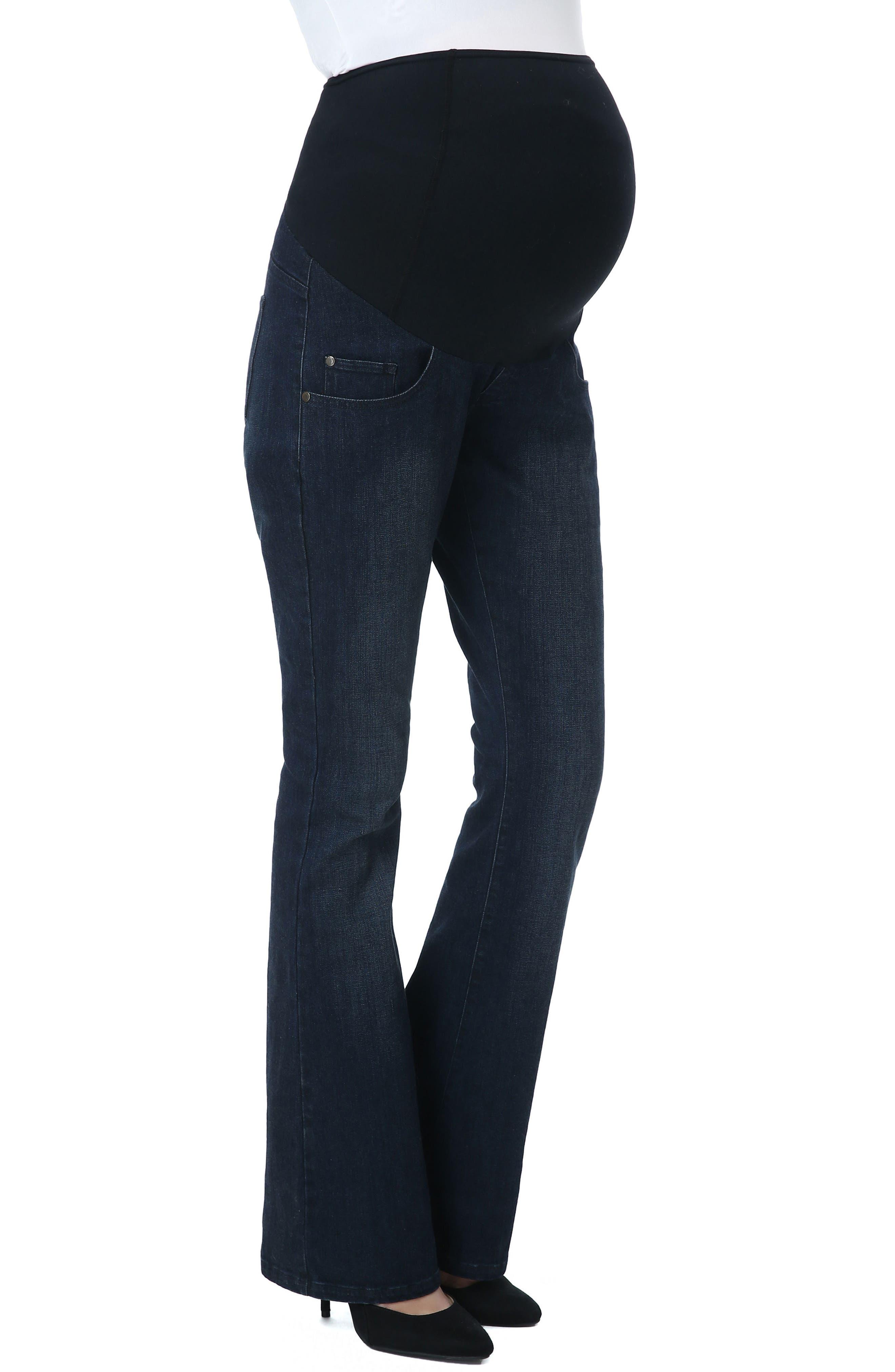 Leni Maternity Bootcut Jeans,                             Main thumbnail 1, color,                             Black/ Blue