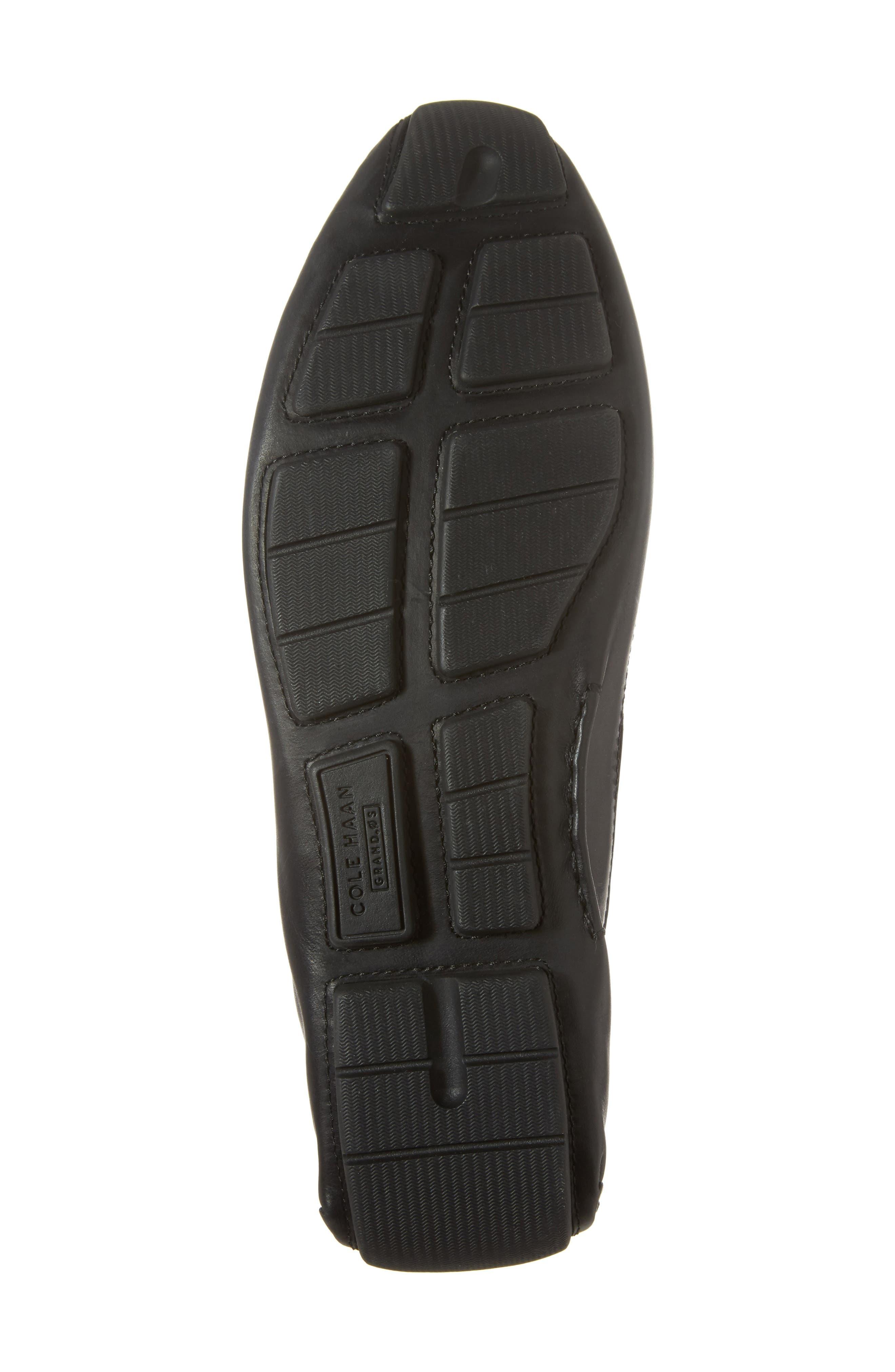 Kelson Venetian Driving Loafer,                             Alternate thumbnail 6, color,                             Black
