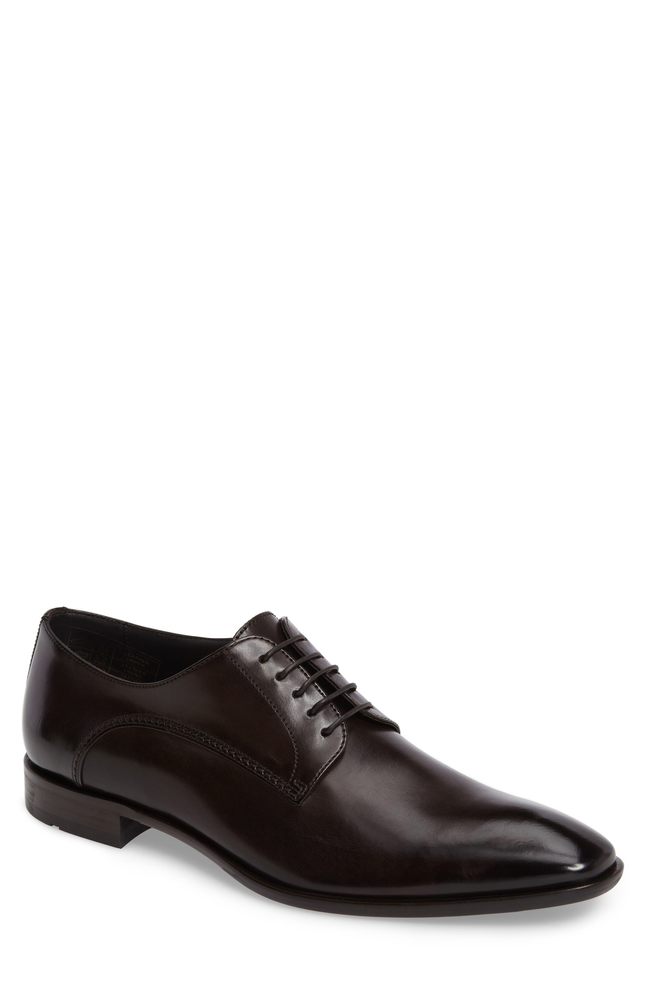 Carmons Plain Toe Derby,                         Main,                         color, Dark Brown Leather