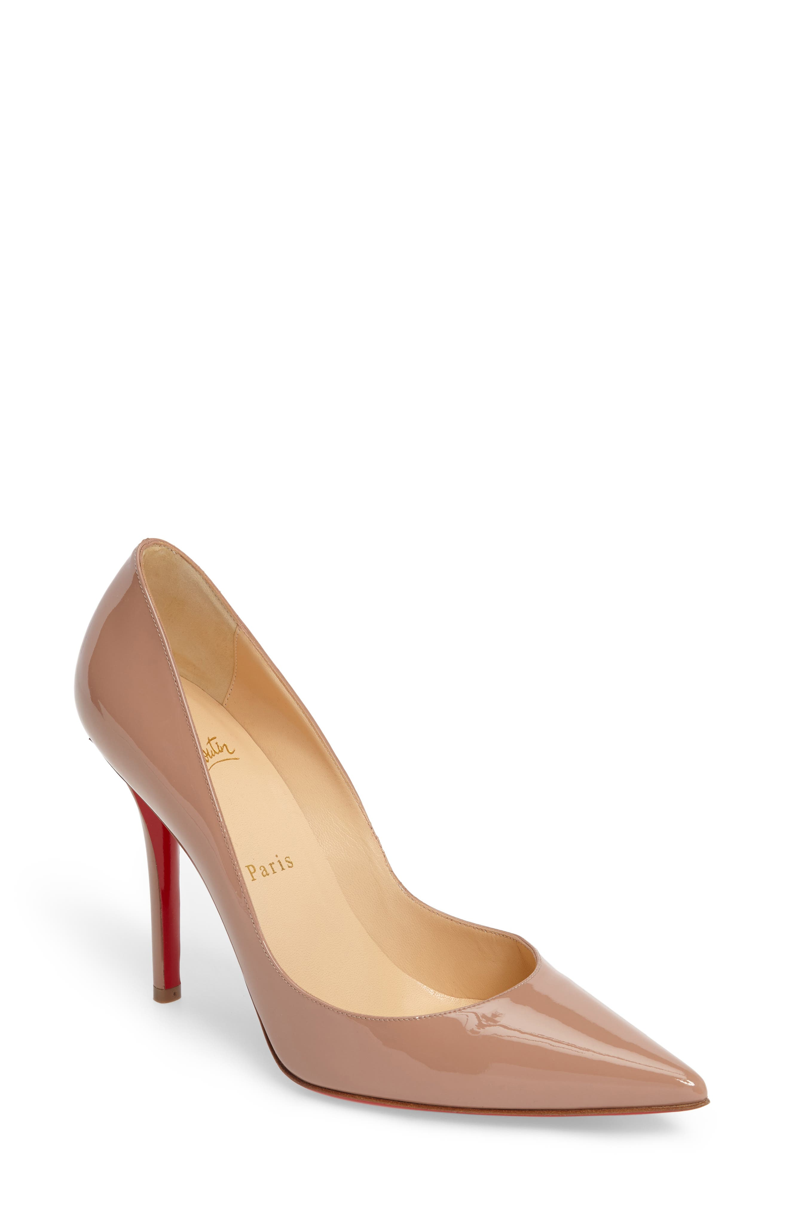 Alternate Image 1 Selected - Christian Louboutin Apostrophy Pointy Toe Pump (Women)