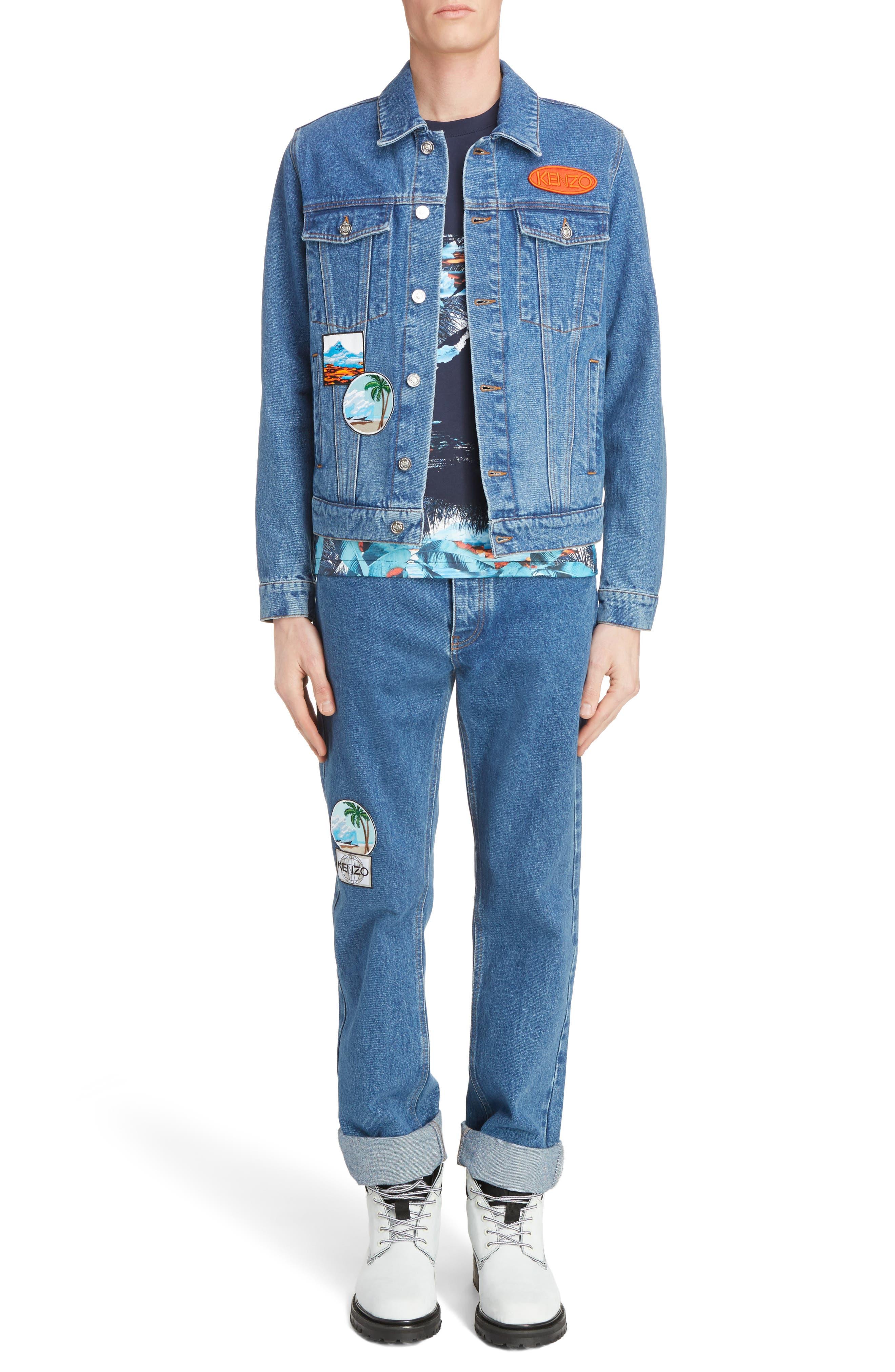Alternate Image 6  - KENZO Denim Patch Jacket
