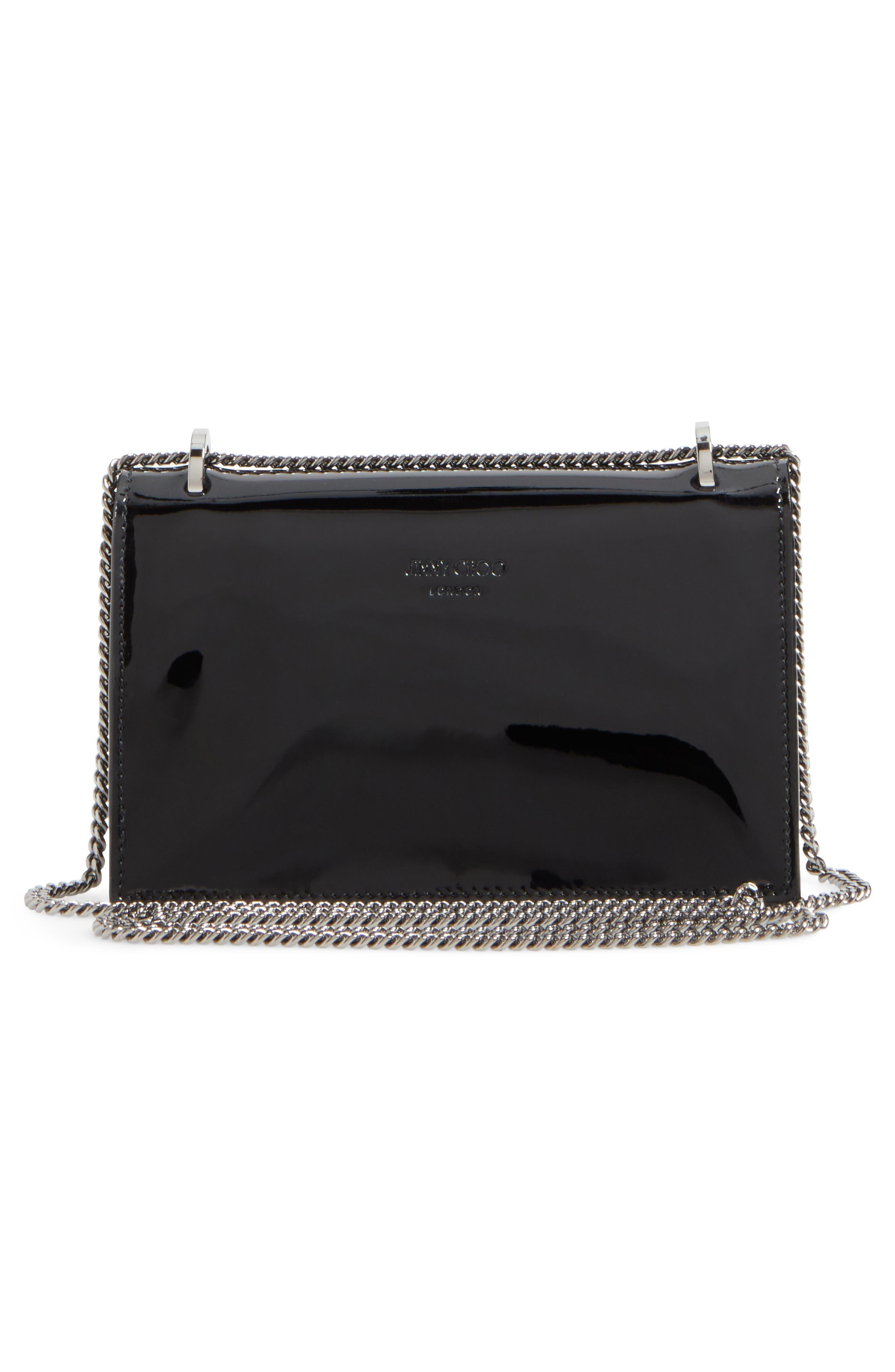 Finley Studded Leather Shoulder Bag,                             Alternate thumbnail 3, color,                             Black