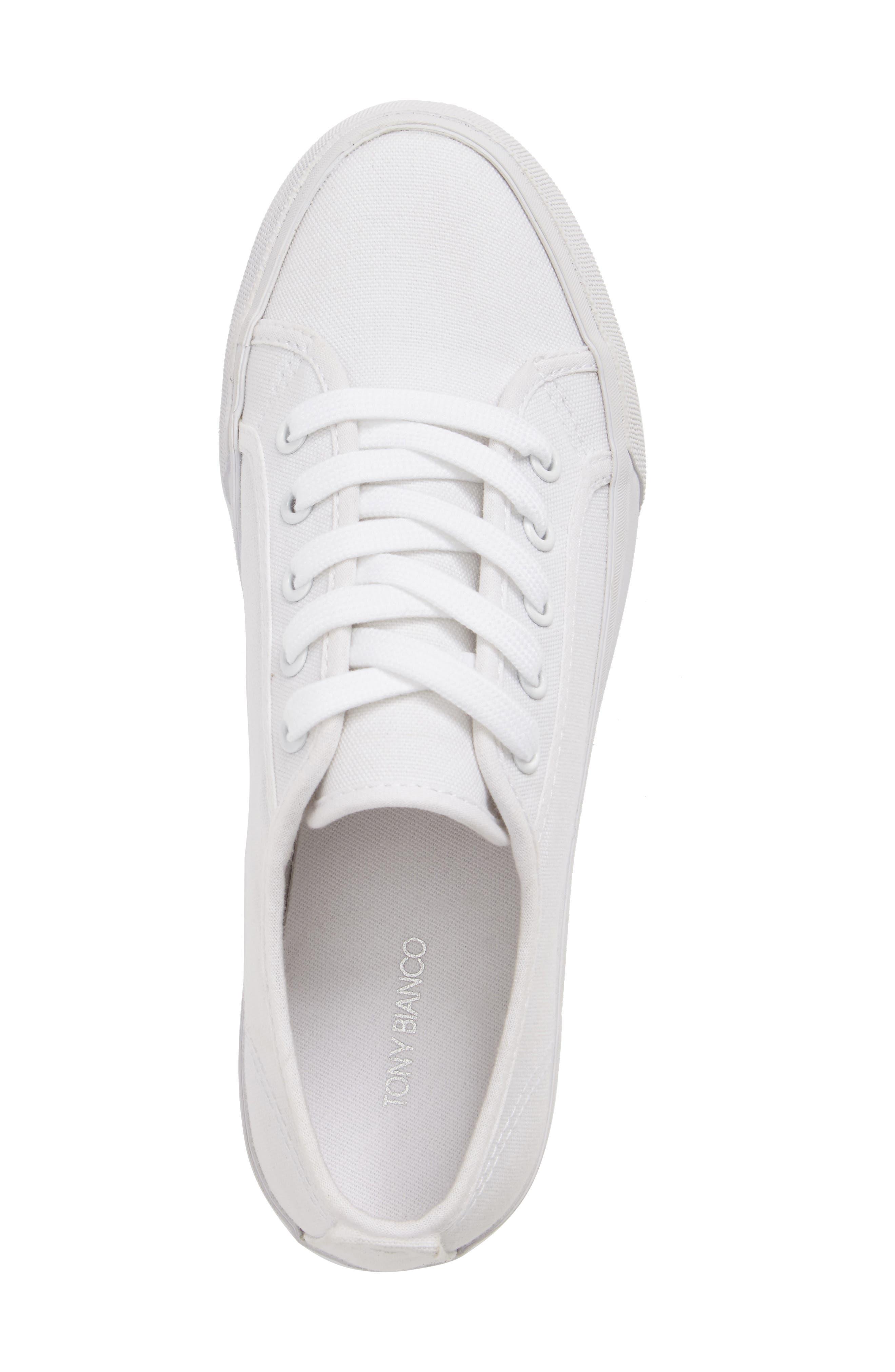 Sneak Platform Sneaker,                             Alternate thumbnail 5, color,                             White Canvas