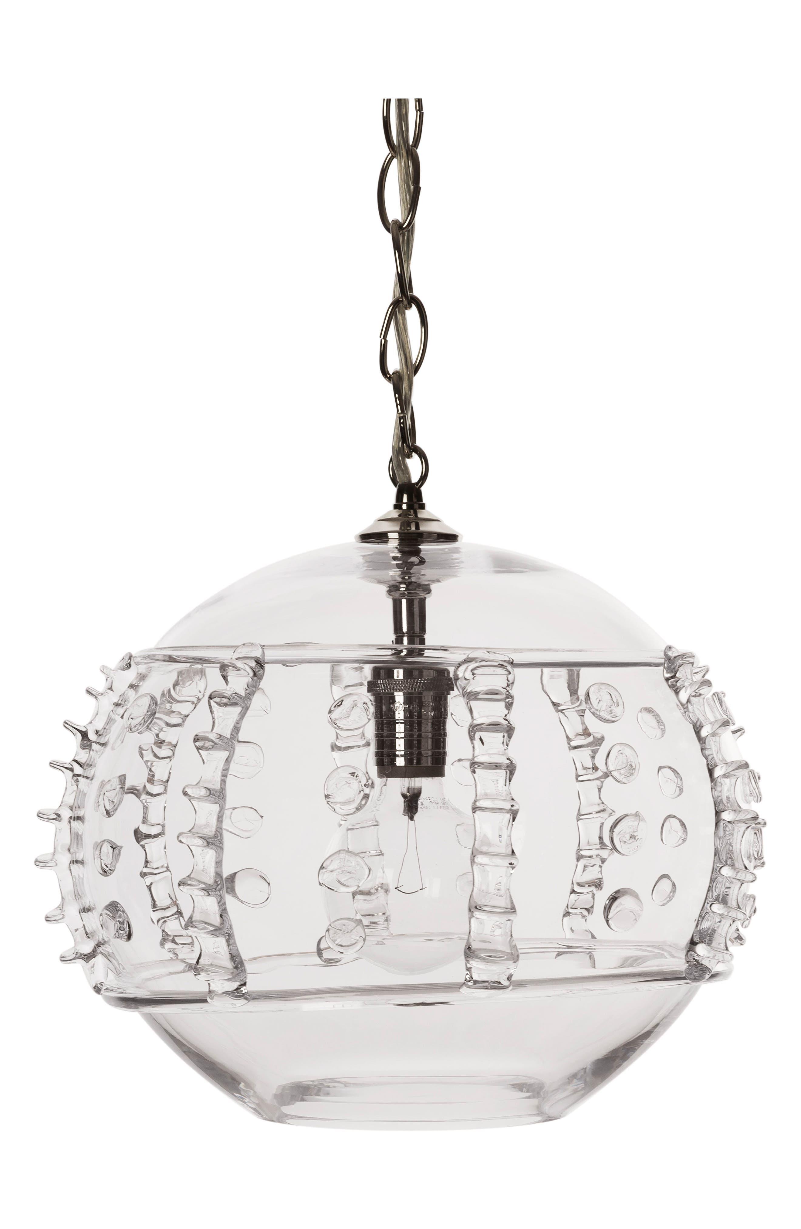 Juliska Harriet Glass Globe Pendant Lamp