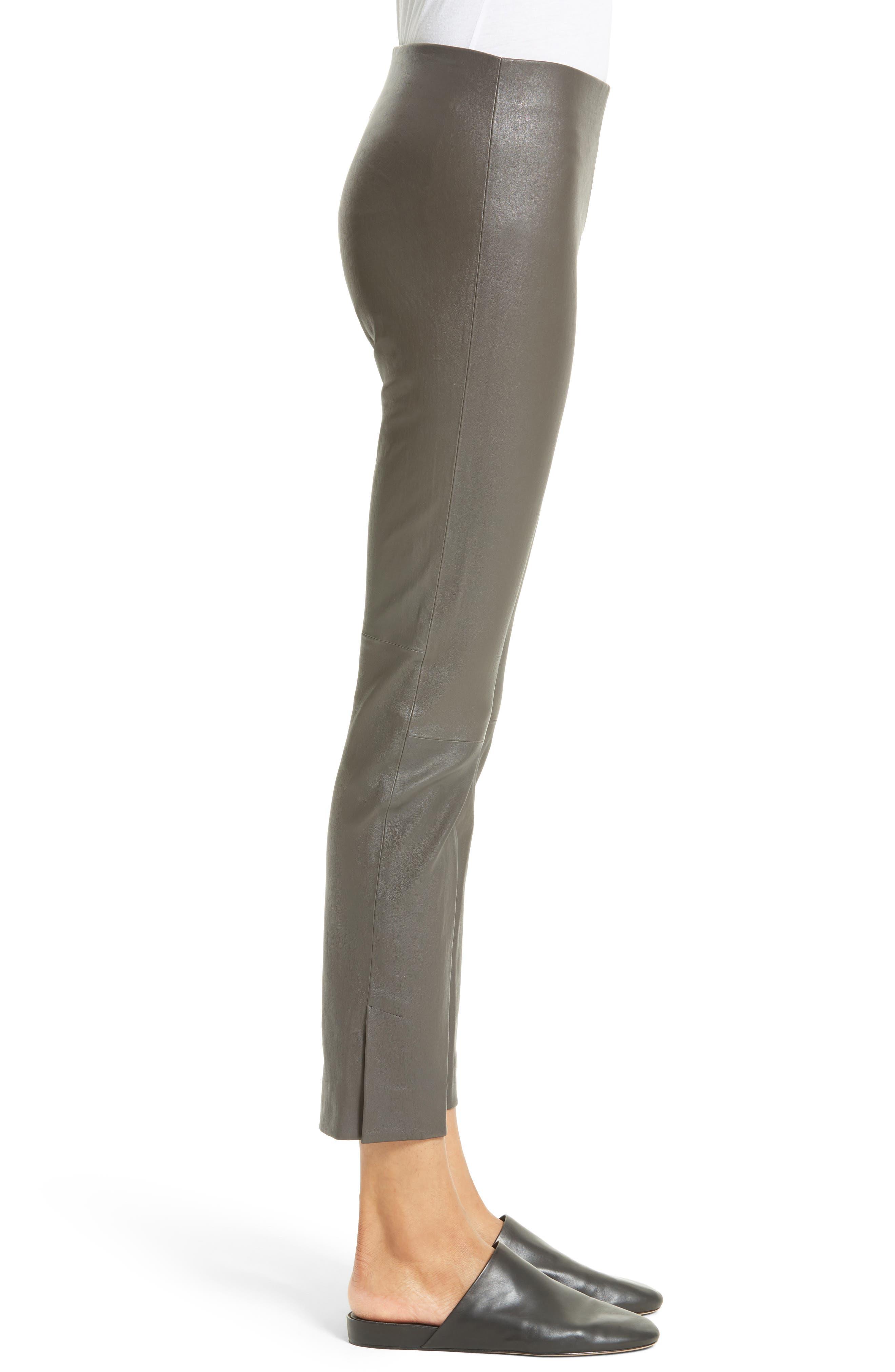 Alternate Image 3  - Vince Slit Hem Crop Leather Pants