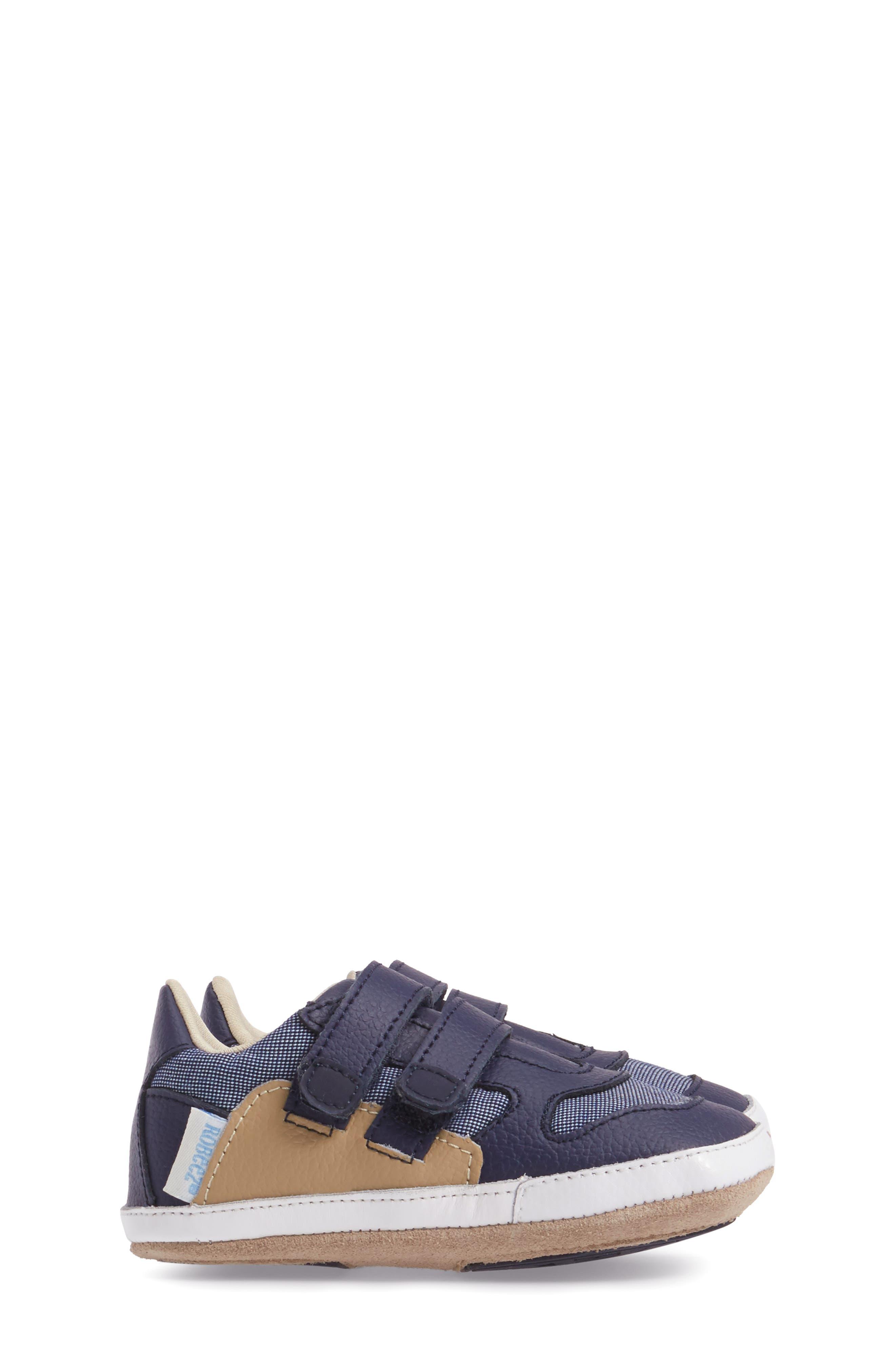 Alternate Image 3  - Robeez® Jaime Crib Shoe (Baby & Walker)