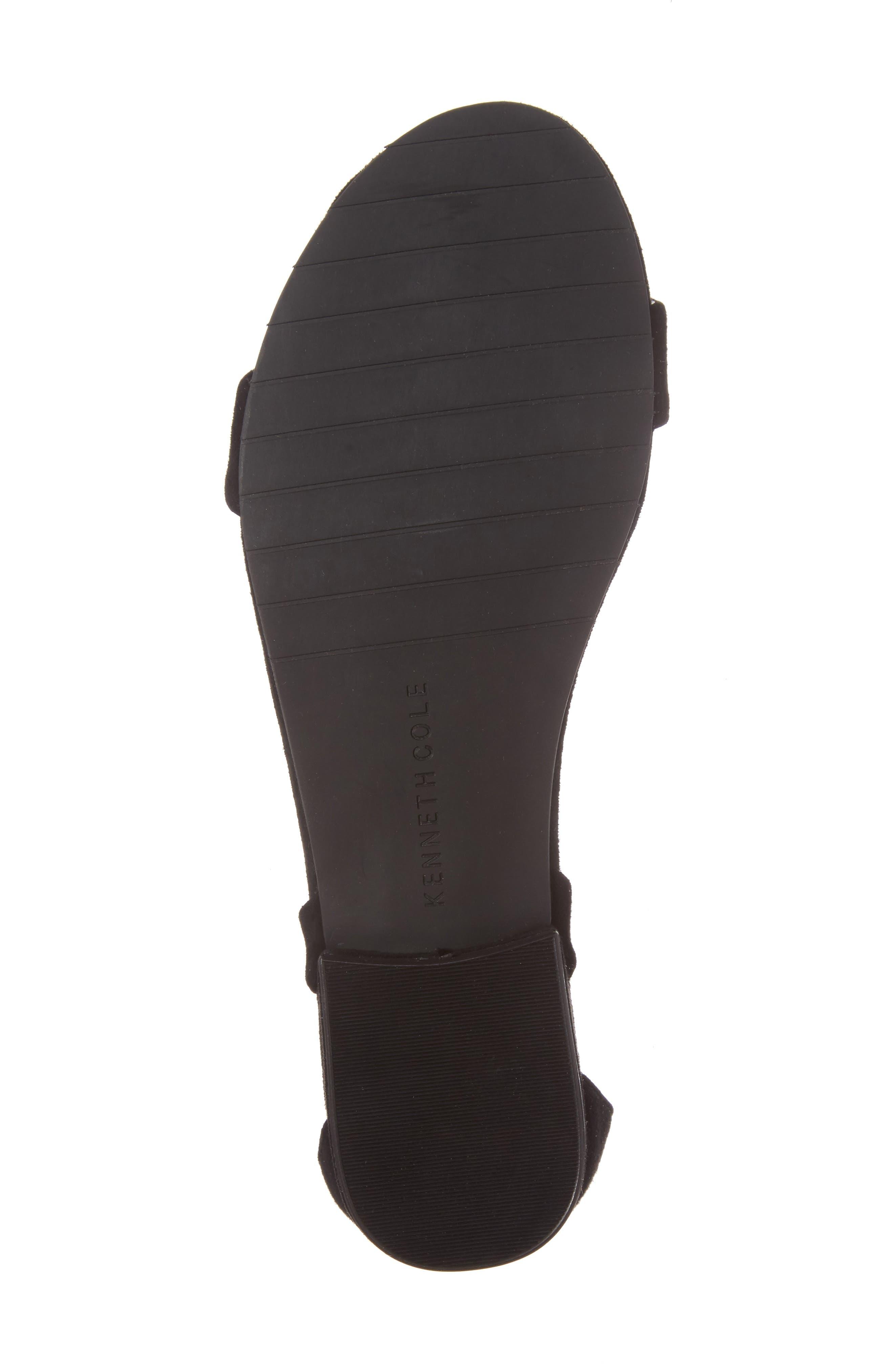 Valen Tassel Lace-Up Sandal,                             Alternate thumbnail 6, color,                             Black Suede