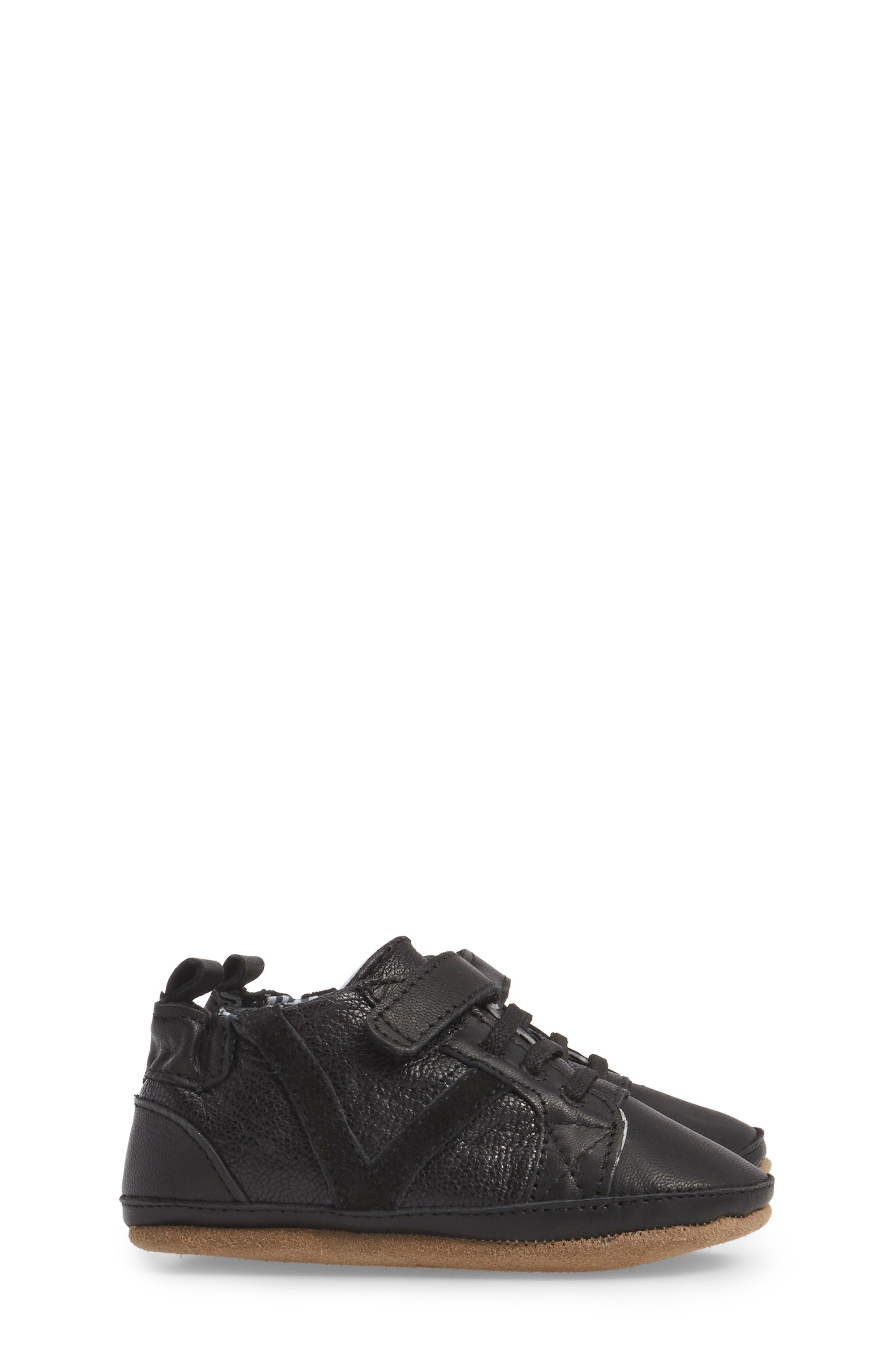 Asher Crib Shoe,                             Alternate thumbnail 3, color,                             Black