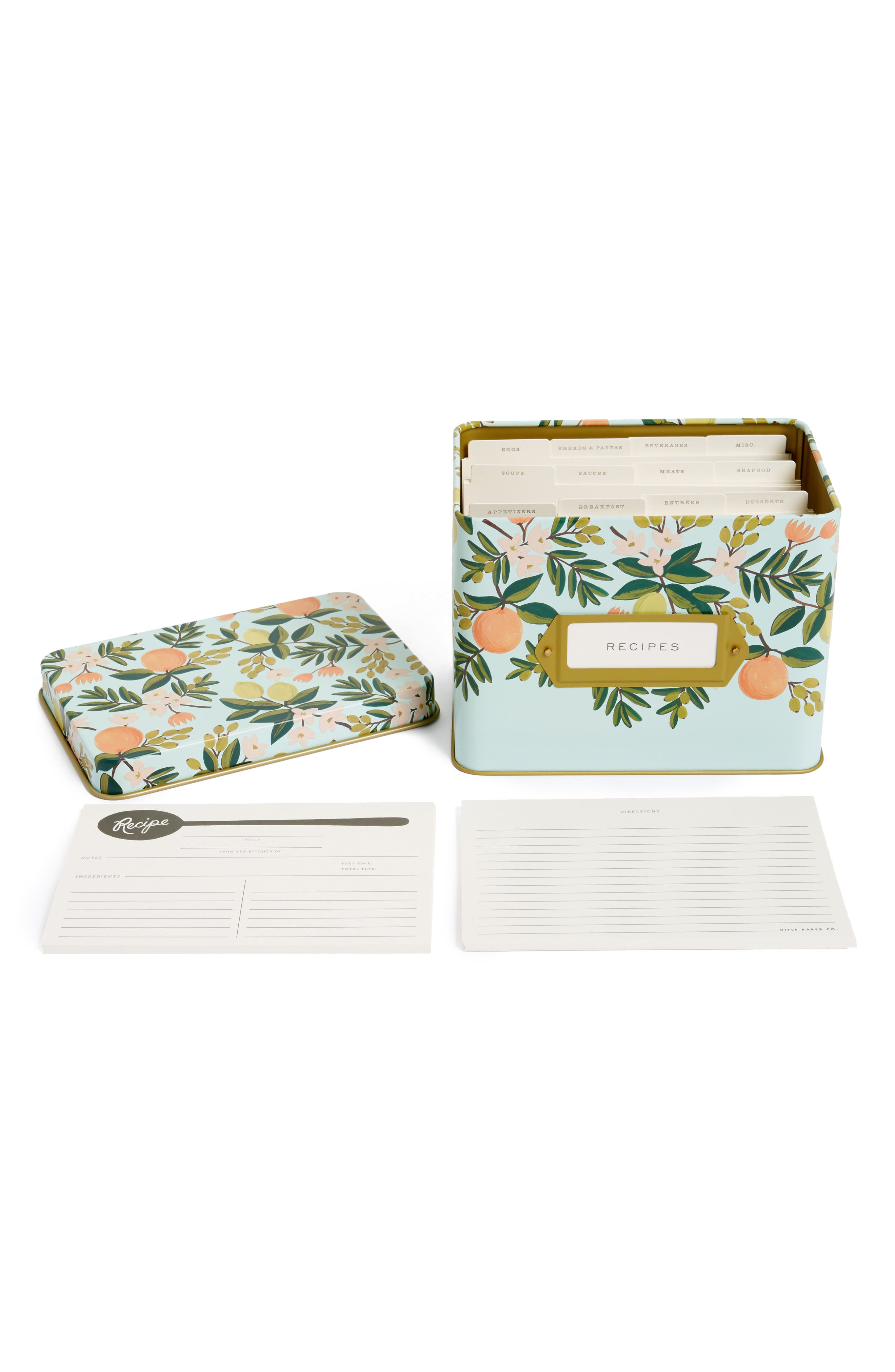 Alternate Image 1 Selected - Rifle Paper Co. Citrus Floral Recipe Tin