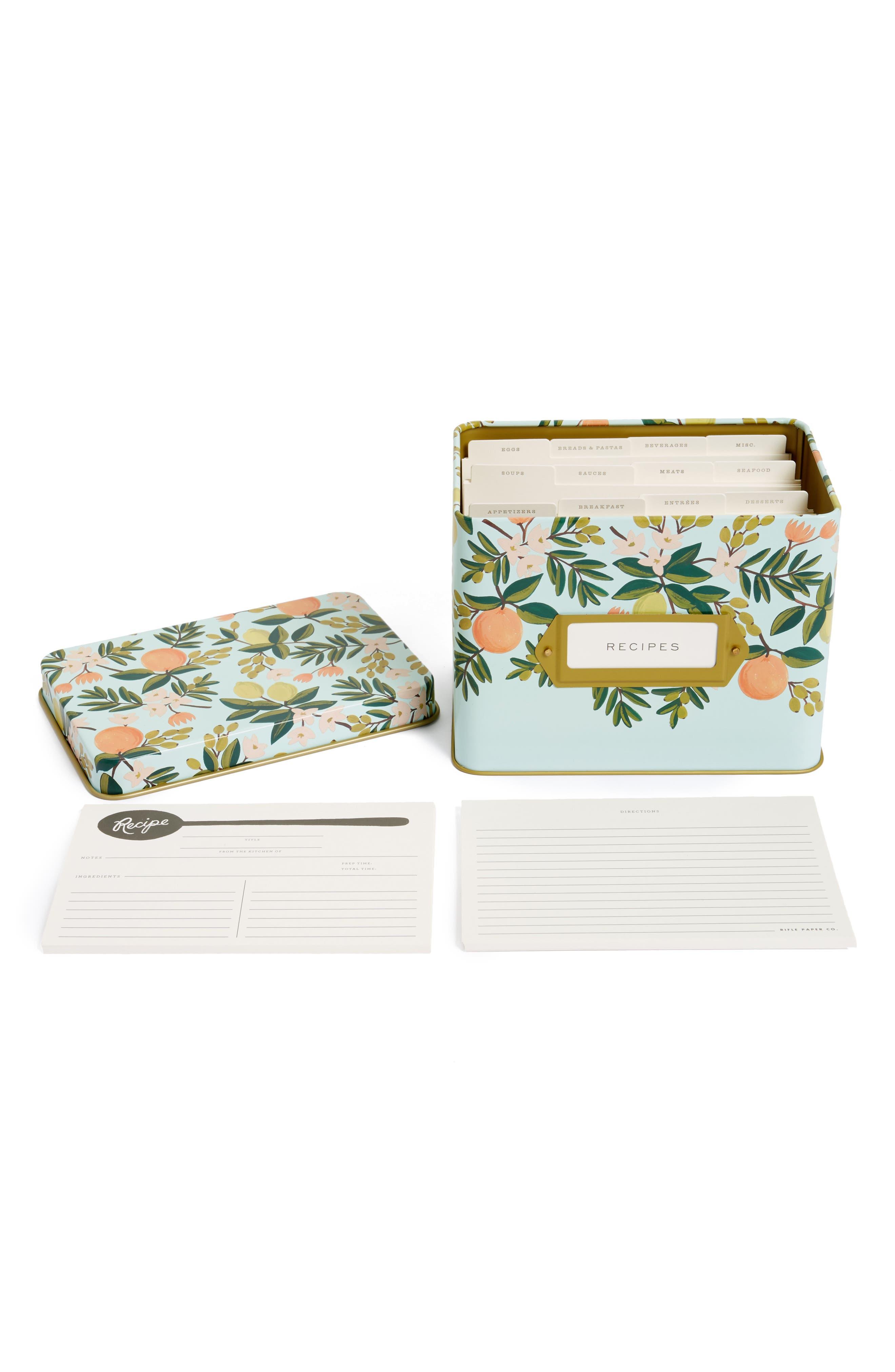 Main Image - Rifle Paper Co. Citrus Floral Recipe Tin