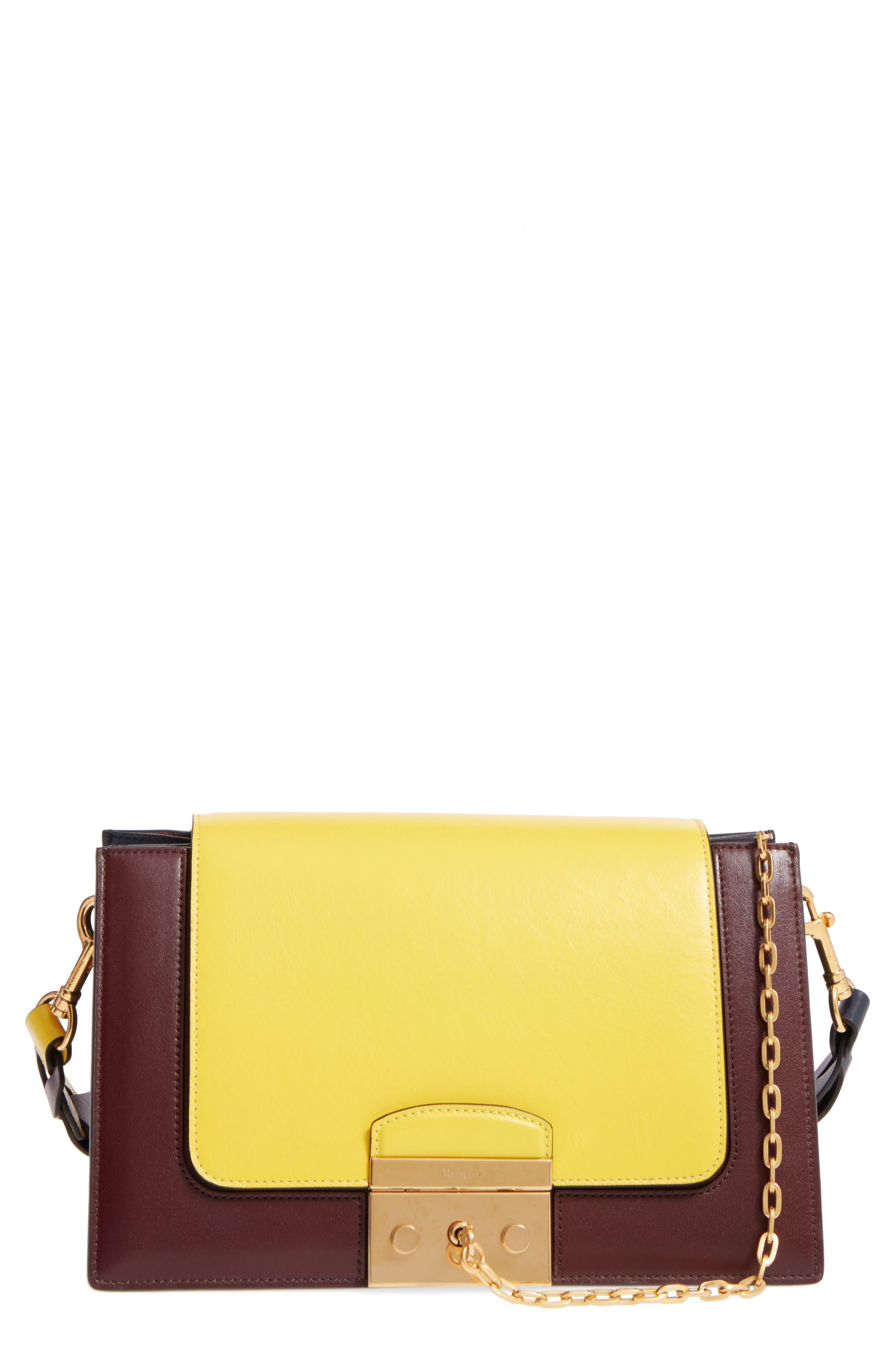 Alternate Image 1 Selected - Mulberry Pembroke Color Block Leather Shoulder Bag