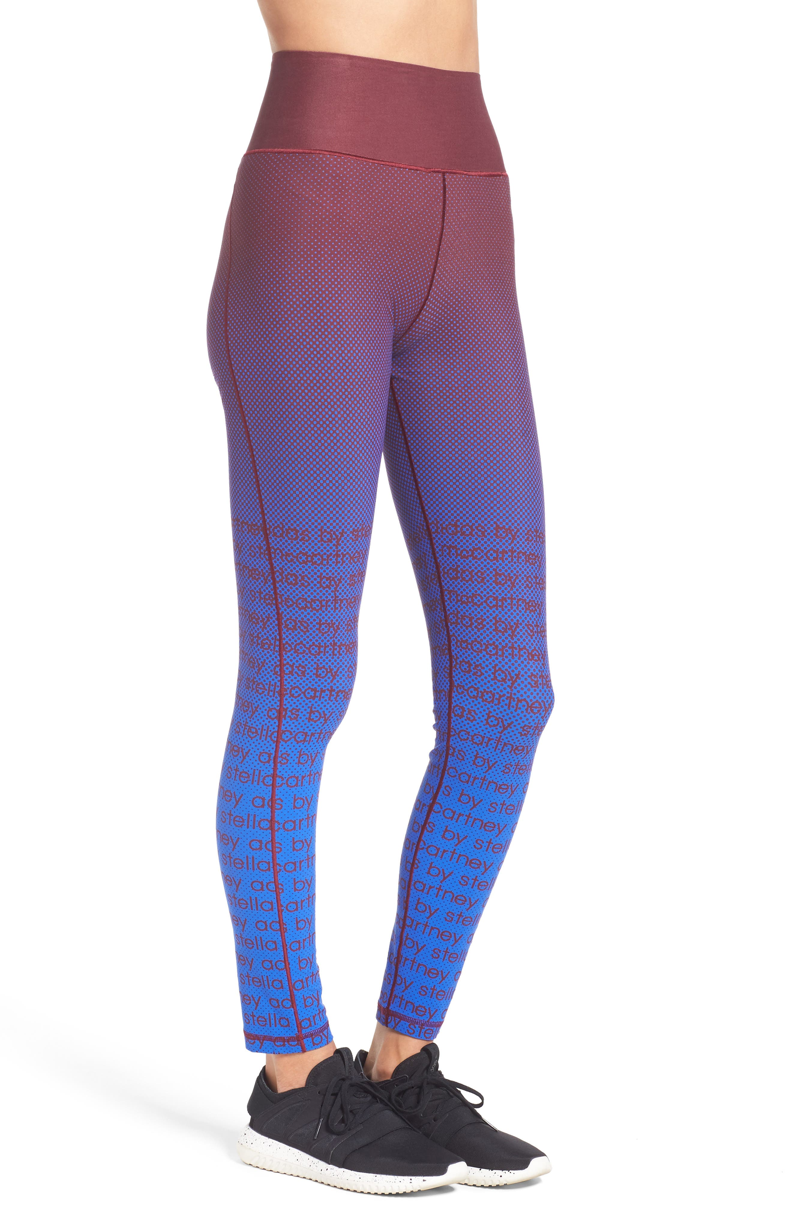 Training Tights,                             Alternate thumbnail 3, color,                             Cherry Wood/ Bold Blue
