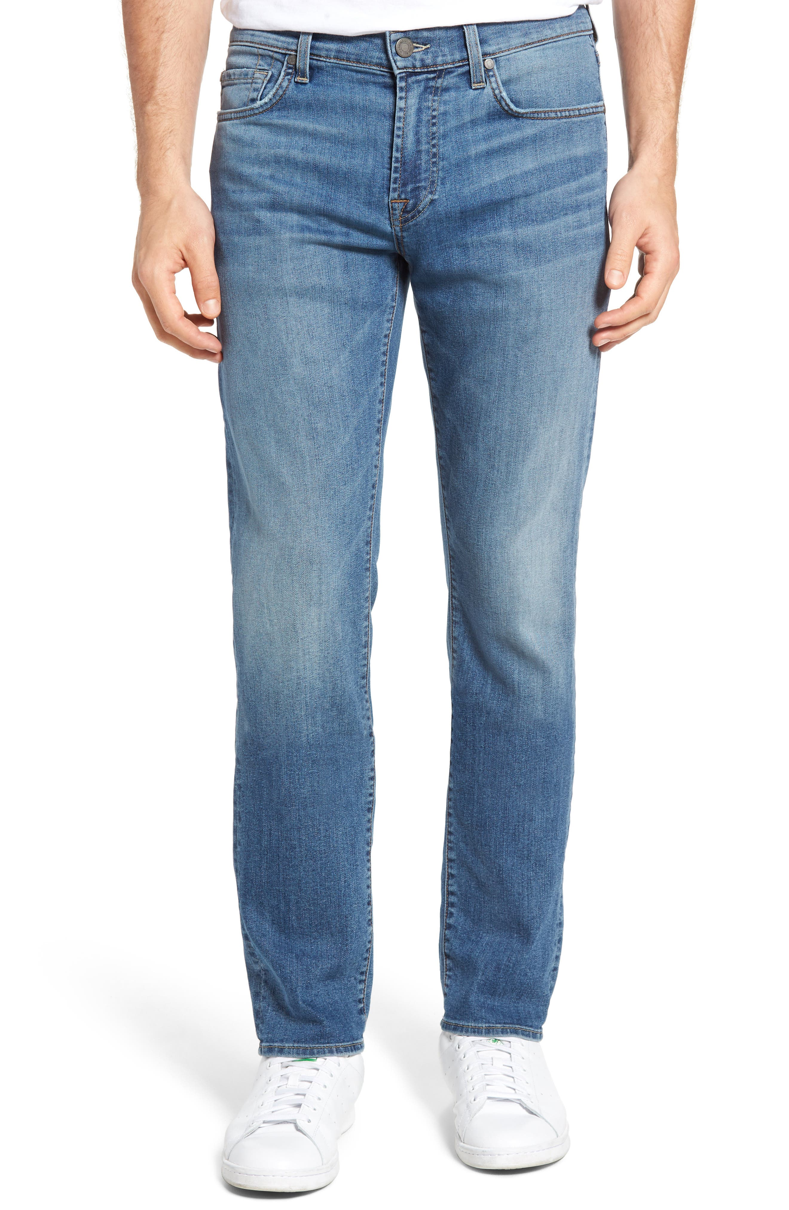Main Image - 7 For All Mankind® Slimmy Slim Fit Jeans (Almafi Coast)