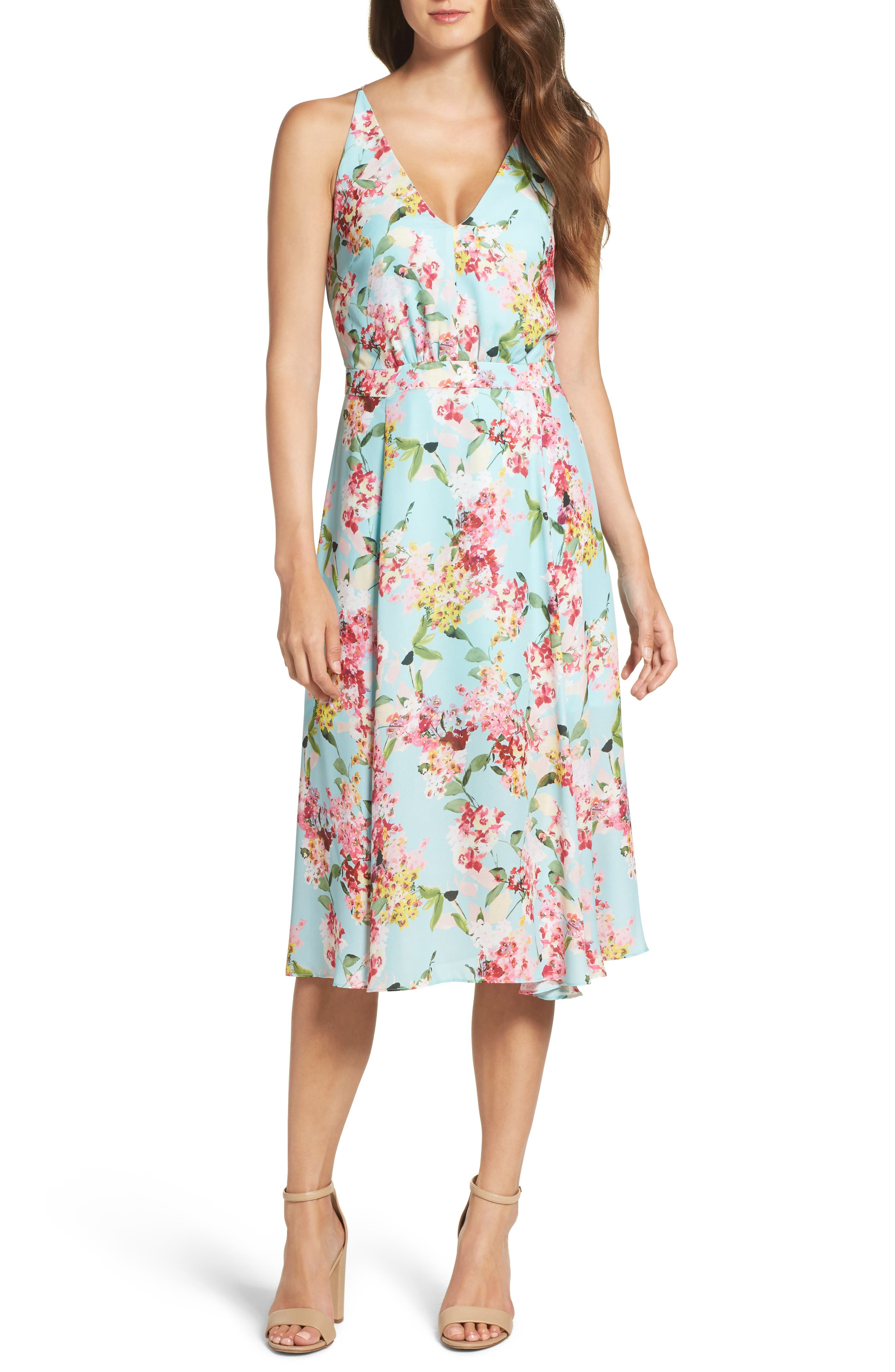 Adelyn Rae Print Midi Dress