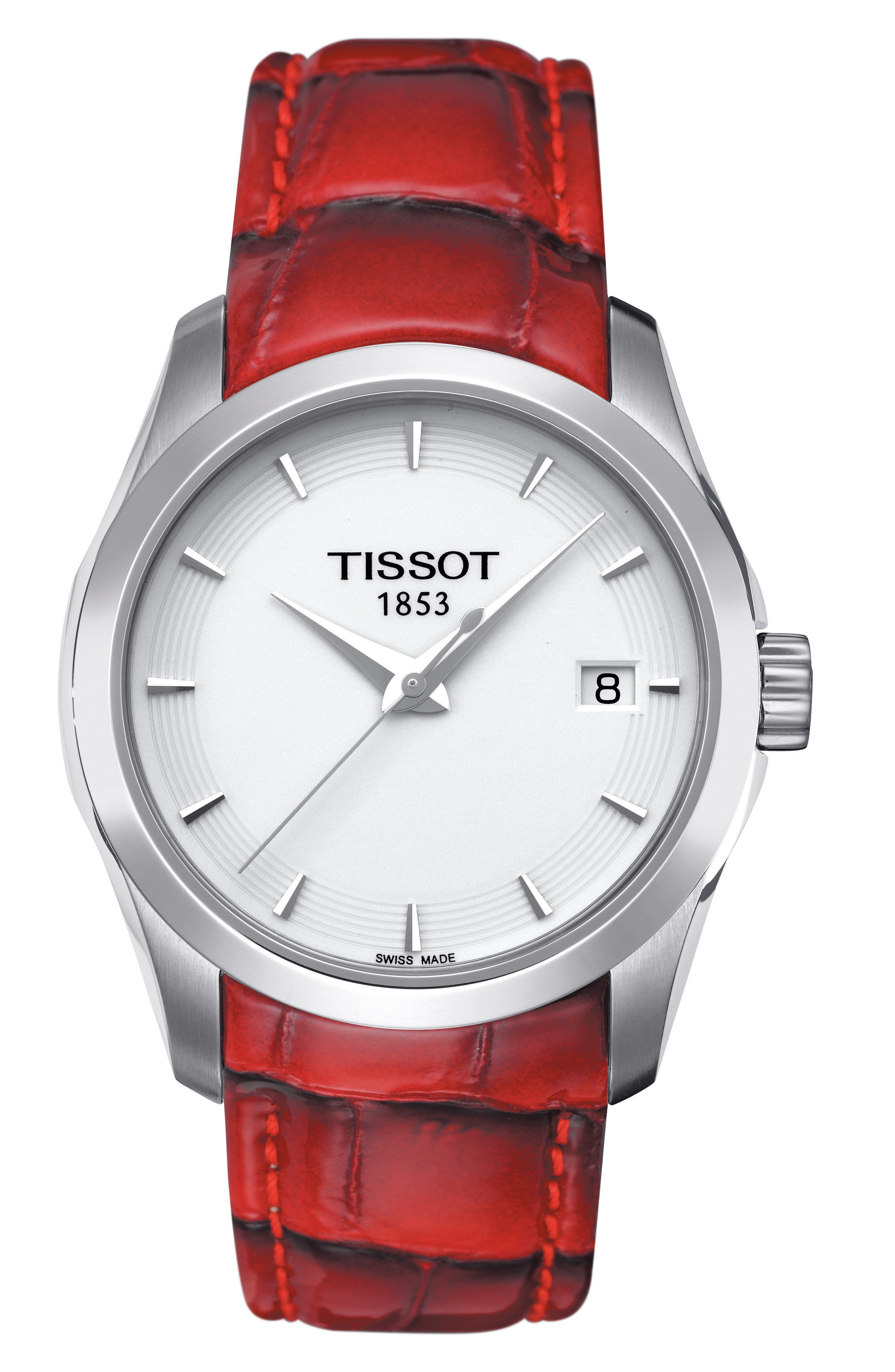 Main Image - Tissot Couturier Leather Strap Watch, 32mm