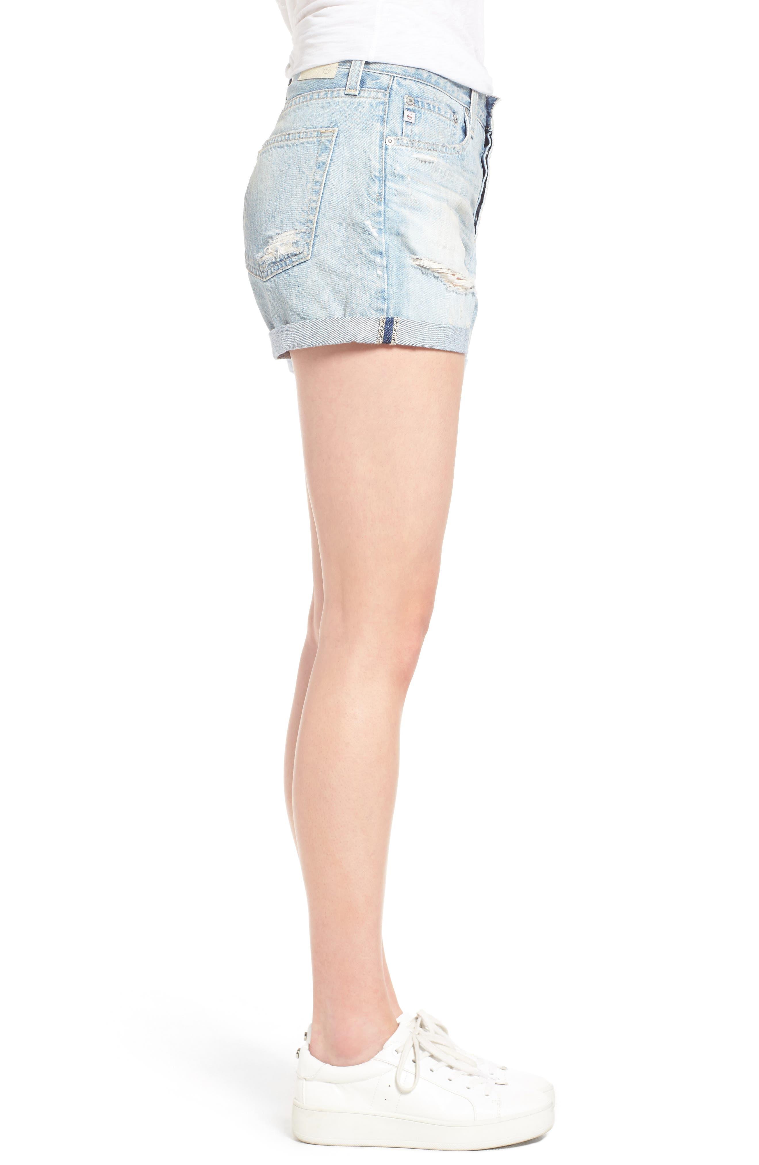 Alternate Image 3  - AG 'Alex' High Rise Cuffed Denim Shorts (22 Years Fearless)