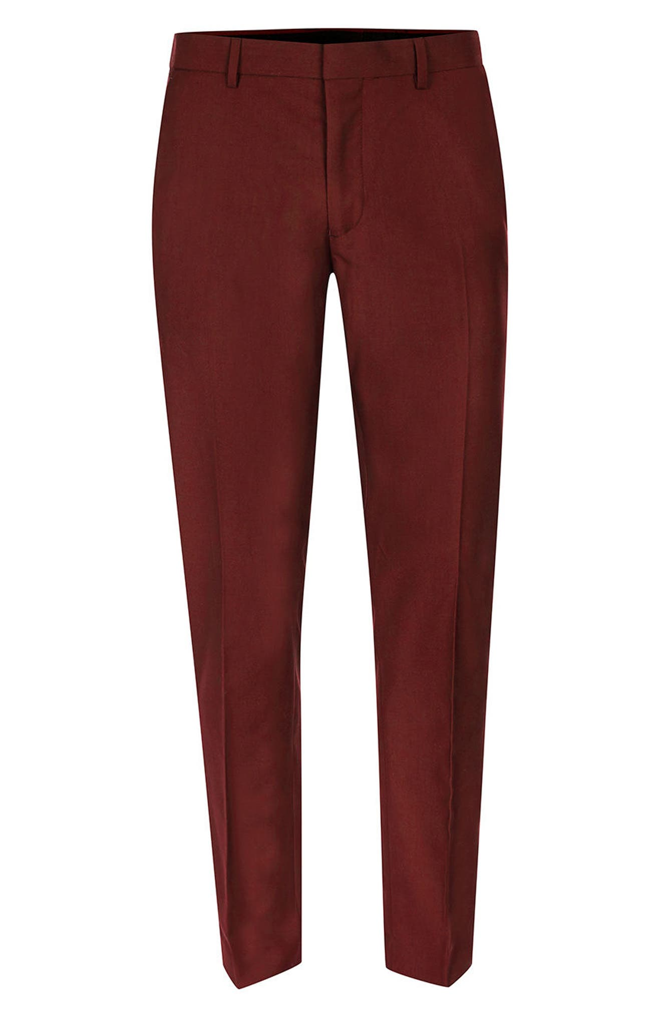 Alternate Image 6  - Topman Skinny Fit Suit Trousers