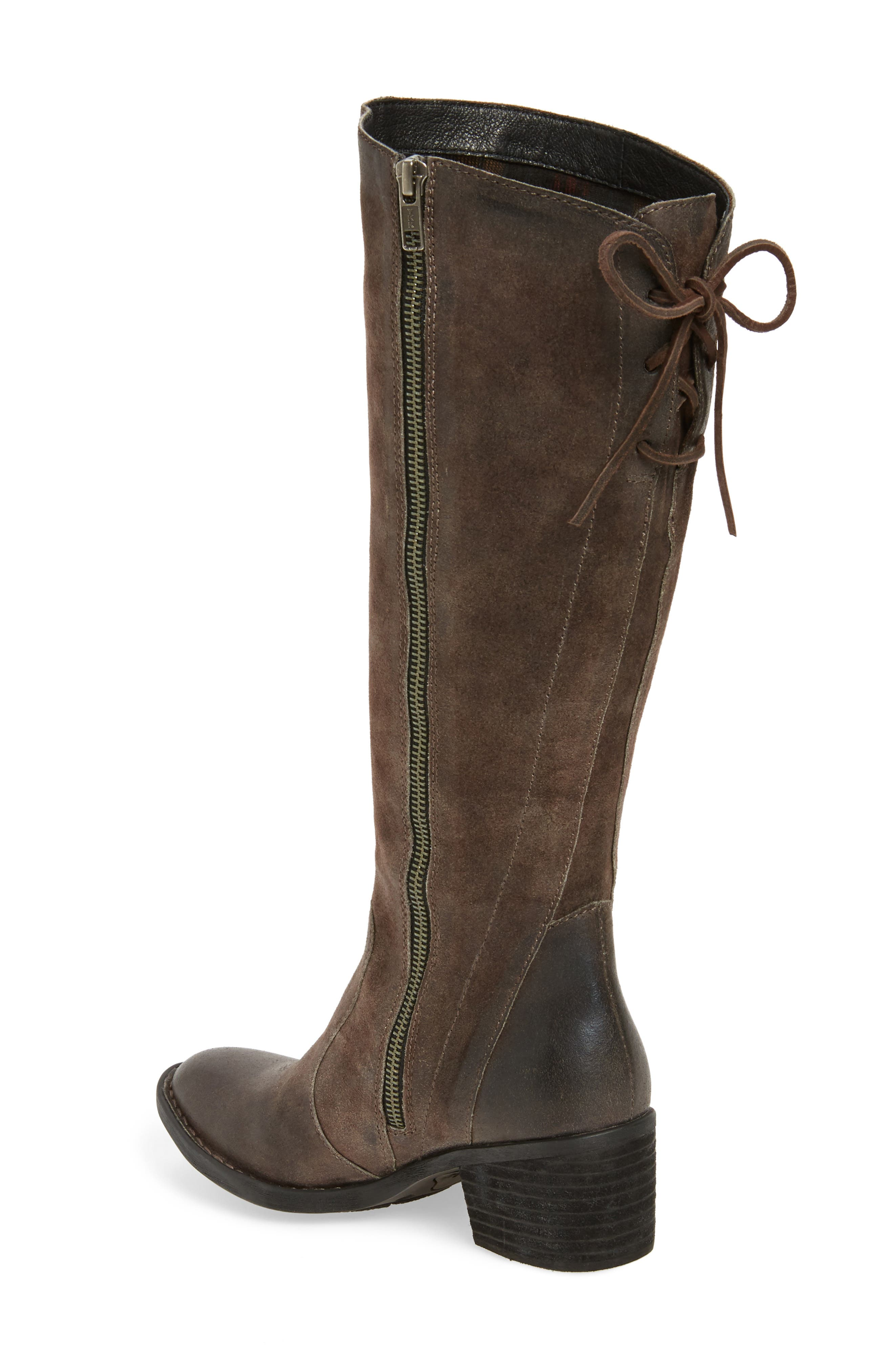 Felicia Knee High Boot,                             Alternate thumbnail 2, color,                             Grey Distressed Leather