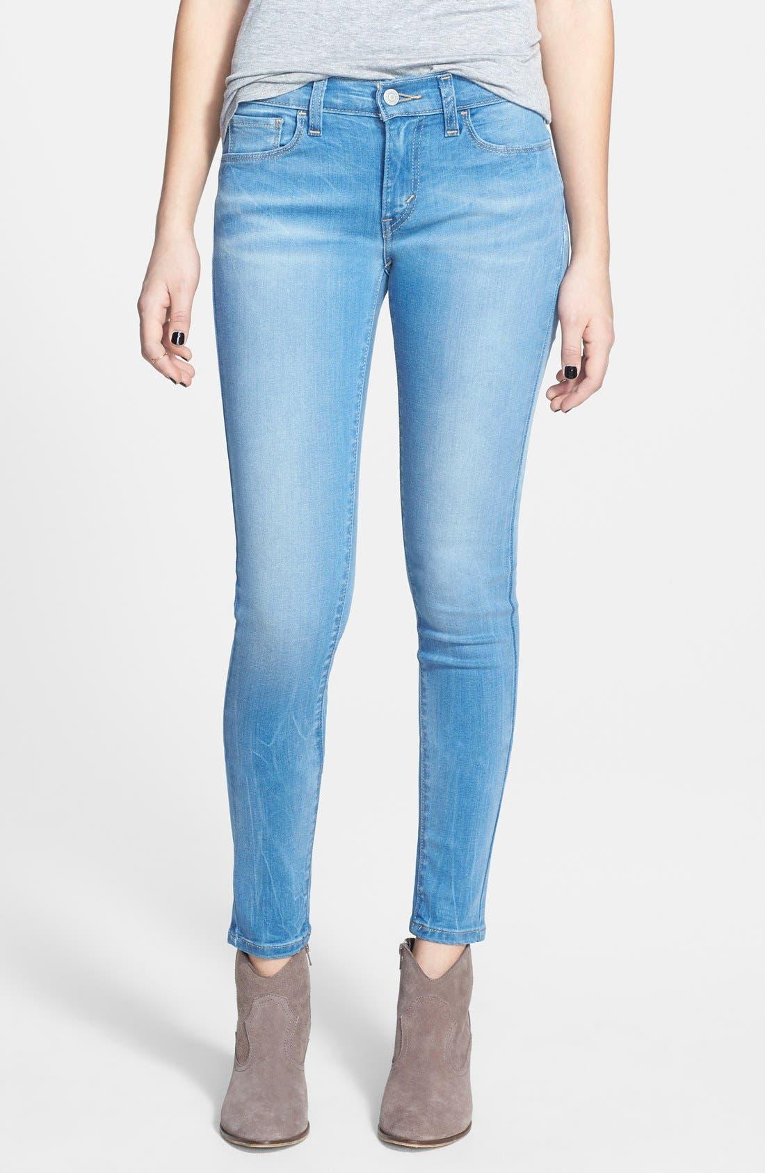 Alternate Image 1 Selected - Levi's® Super Skinny Jeans (Indigo)