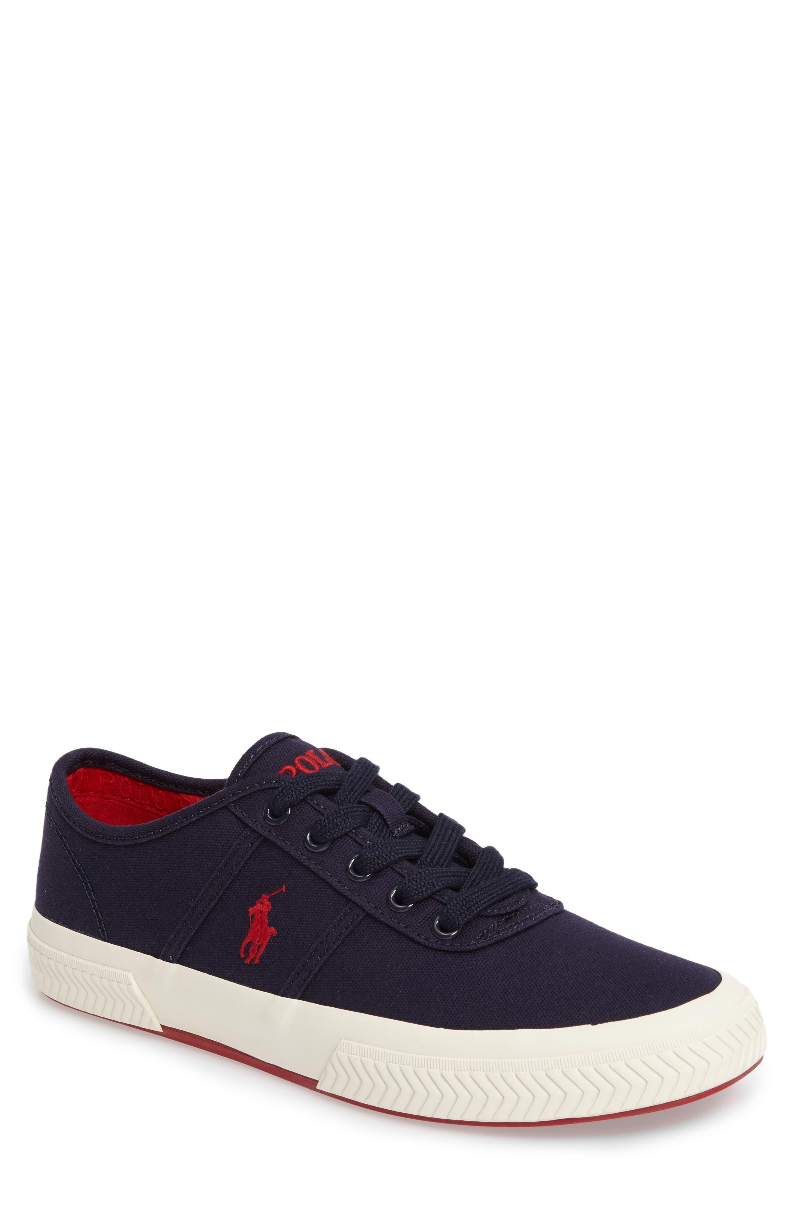 Polo Ralph Lauren Tyrian Sneaker,                             Main thumbnail 1, color,                             Newport Navy