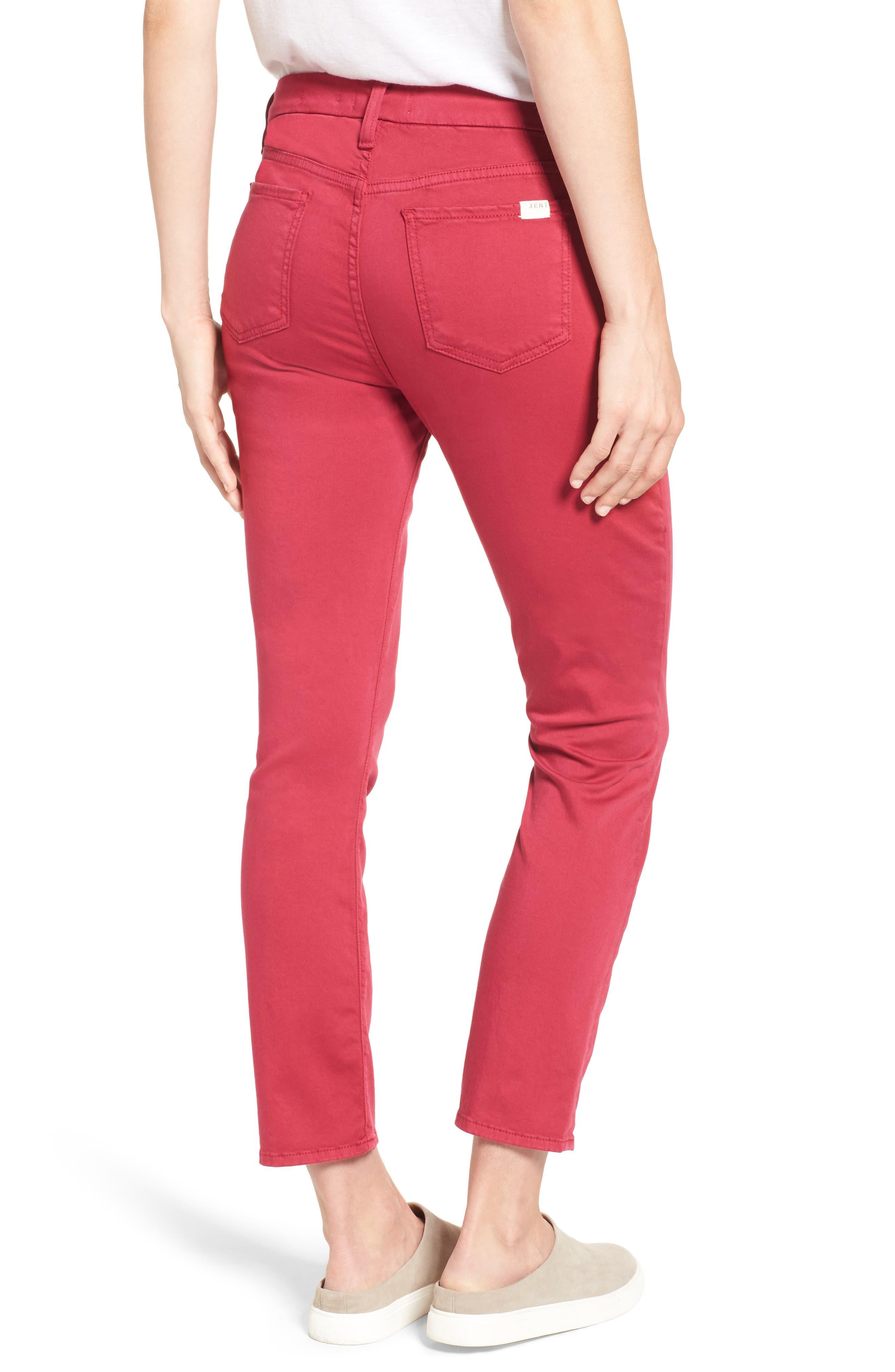 Alternate Image 2  - Jen7 Crop Sateen Skinny Jeans