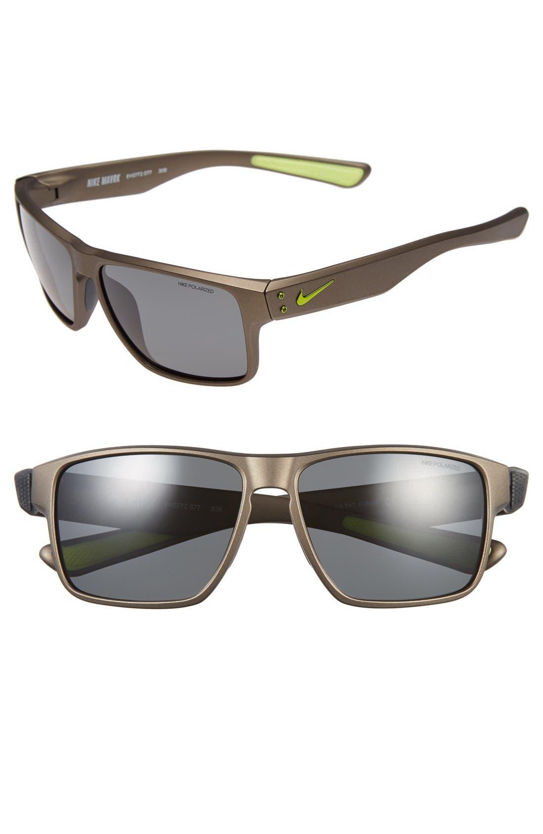 'Mavrk' 59mm Sunglasses,                         Main,                         color, Anthracite/ Volt/ Grey Polar
