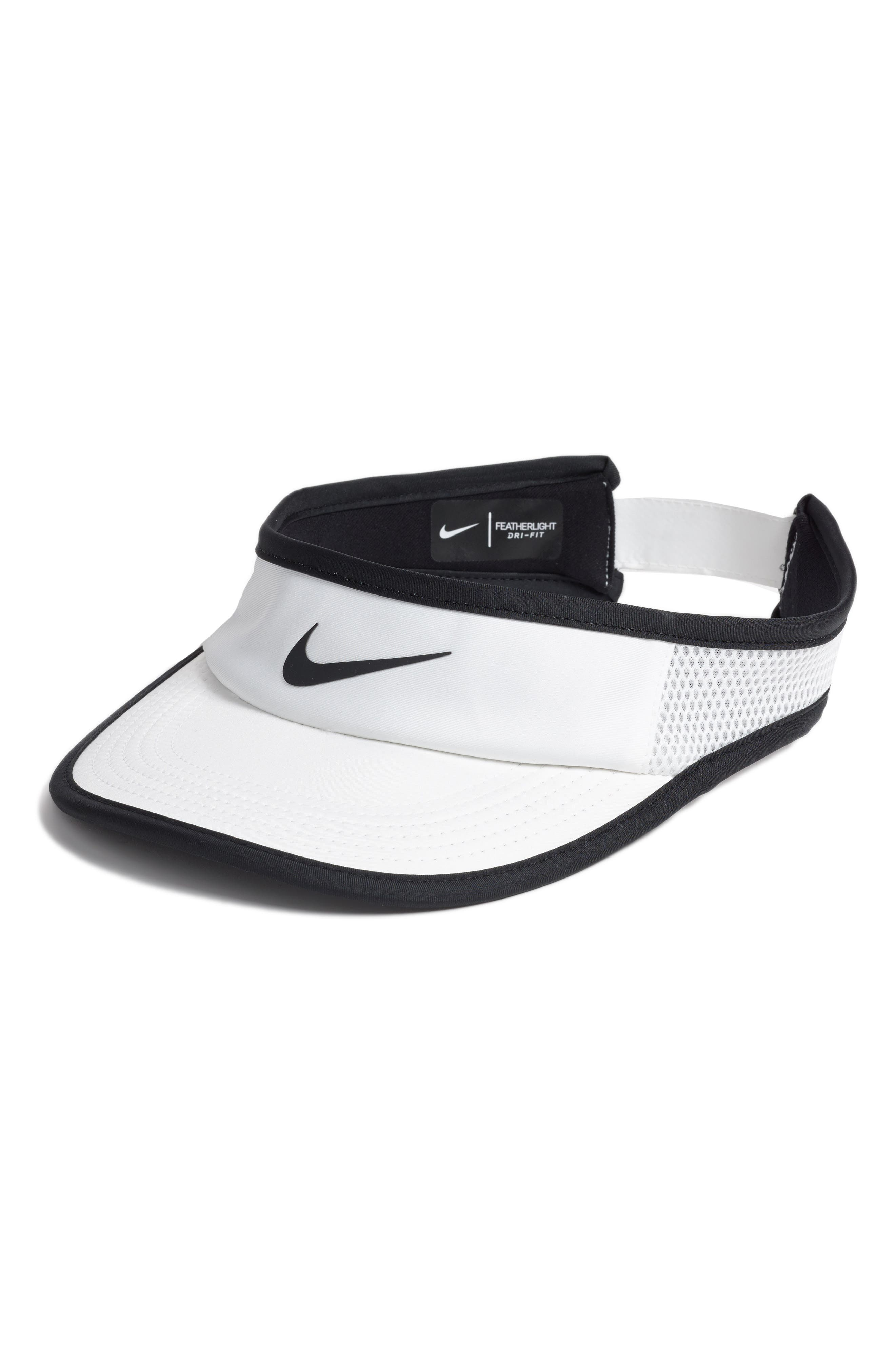 Court AeroBill Tennis Visor,                             Main thumbnail 1, color,                             White/ White/ Black/ Black