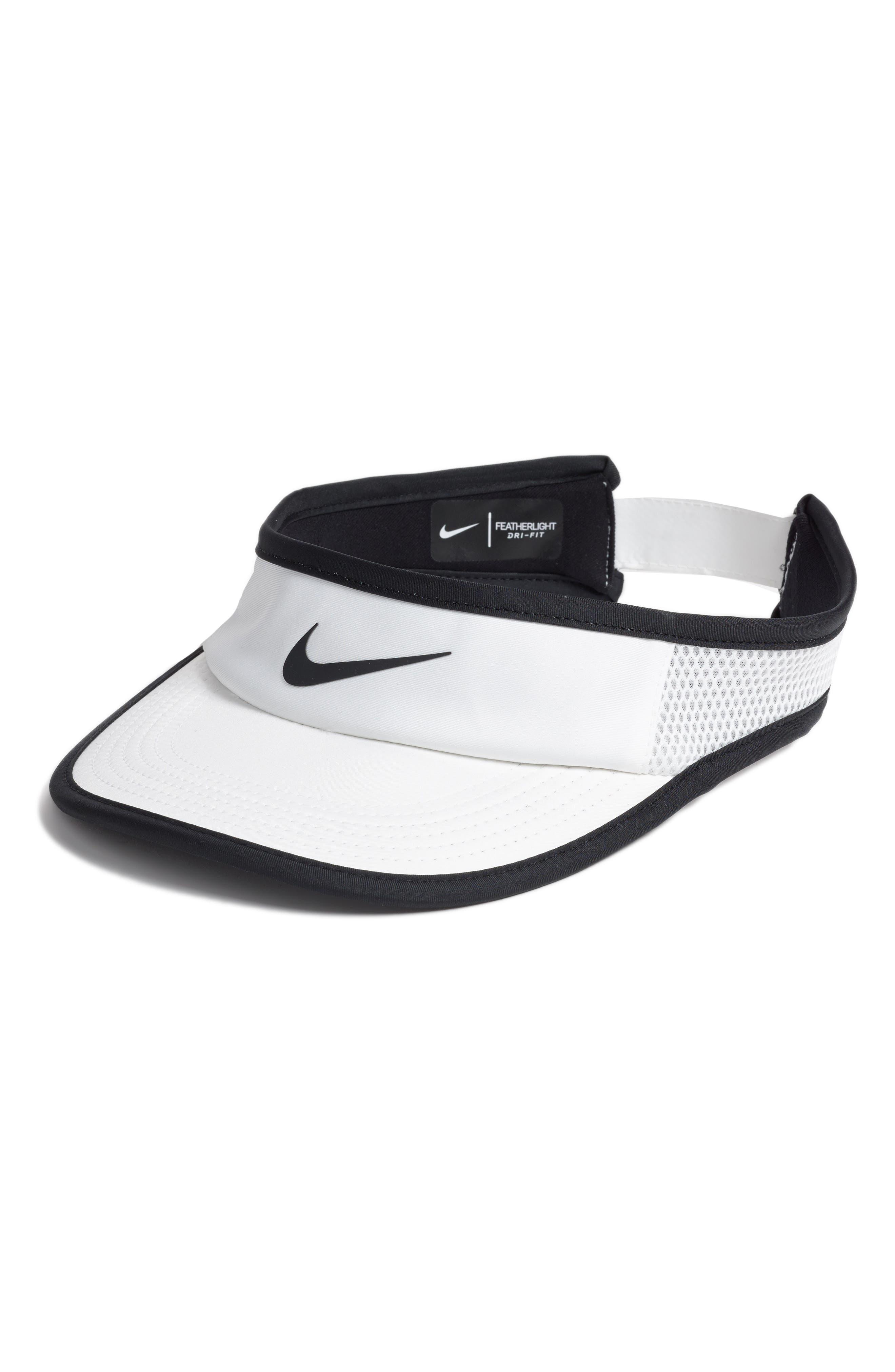 Court AeroBill Tennis Visor,                         Main,                         color, White/ White/ Black/ Black