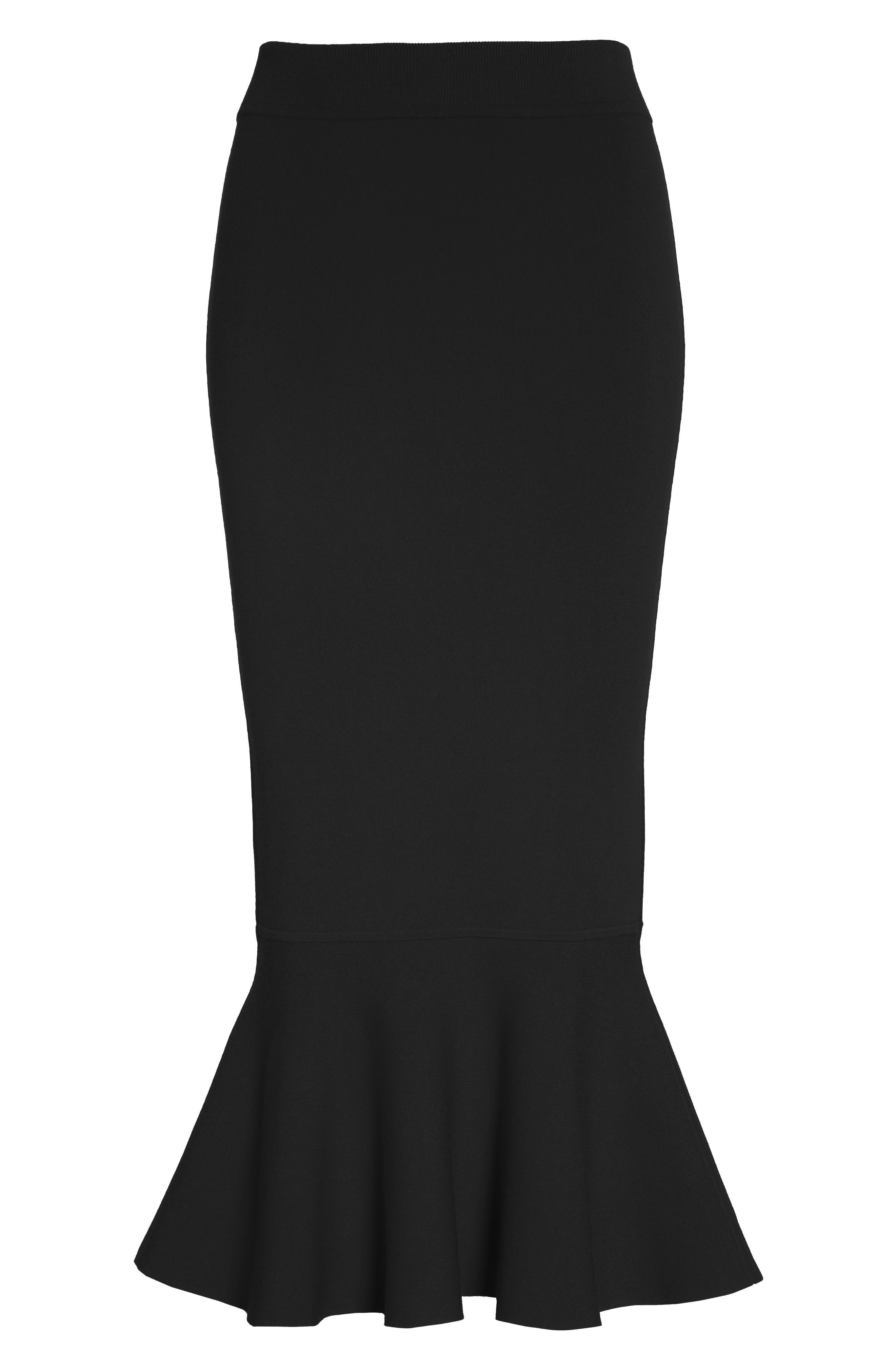 Alternate Image 4  - Michael Kors Stretch Knit Flounce Skirt