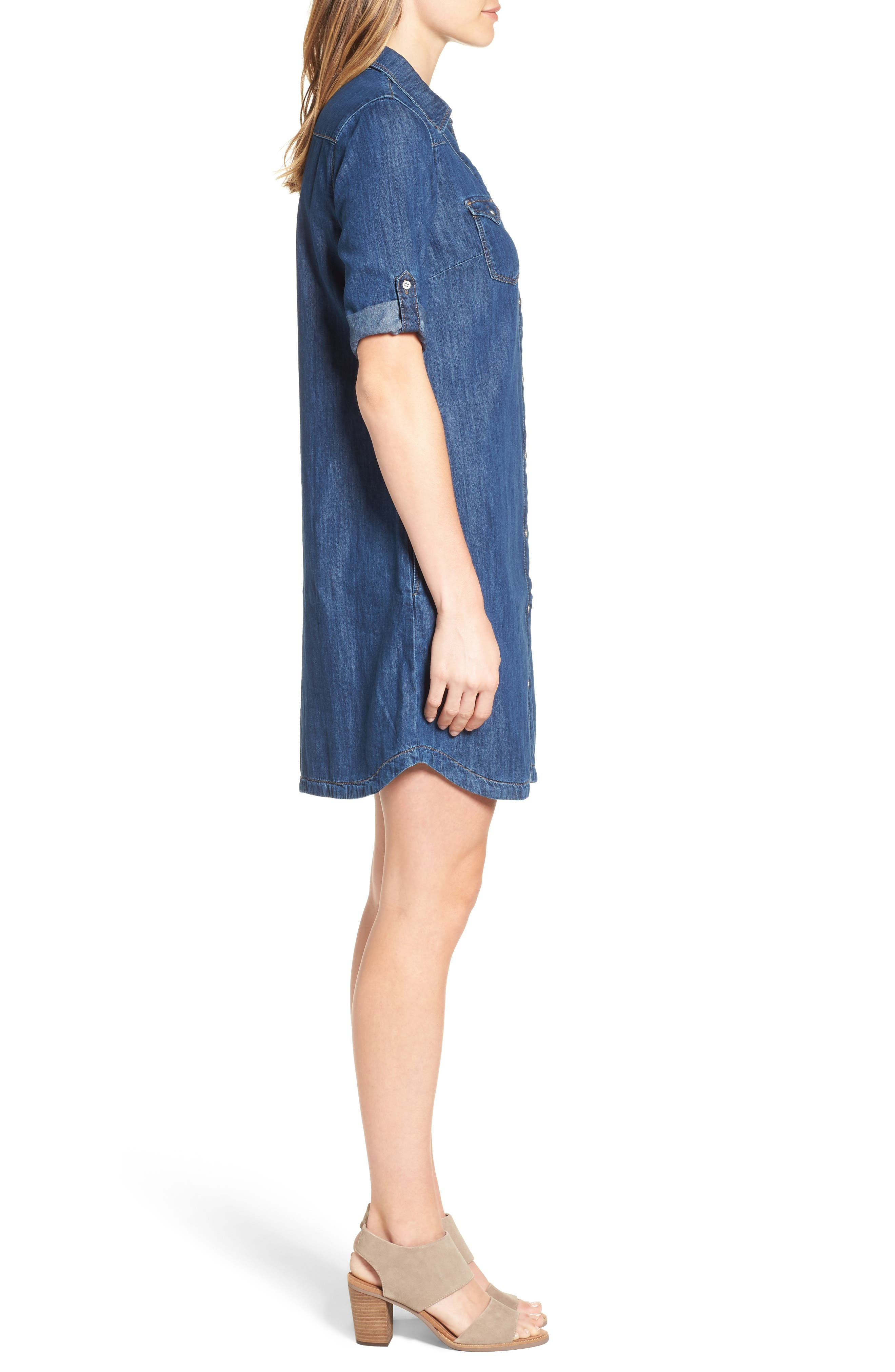 Alternate Image 3  - Mavi Jeans Bree Denim Shirtdress