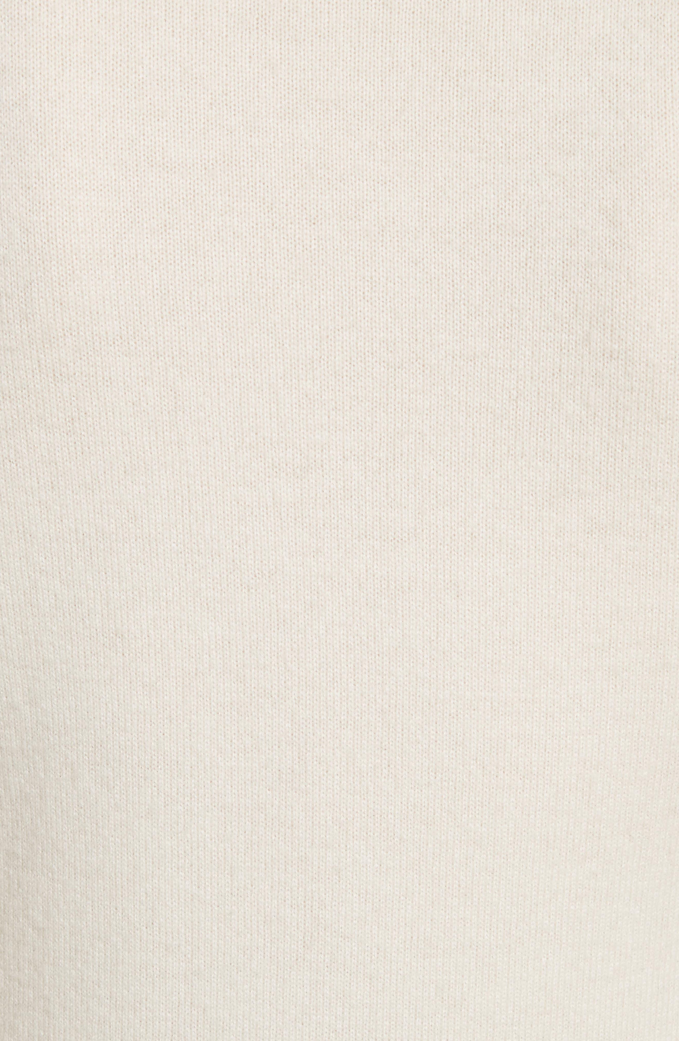 Cashmere Turtleneck Shell,                             Alternate thumbnail 7, color,                             Ivory
