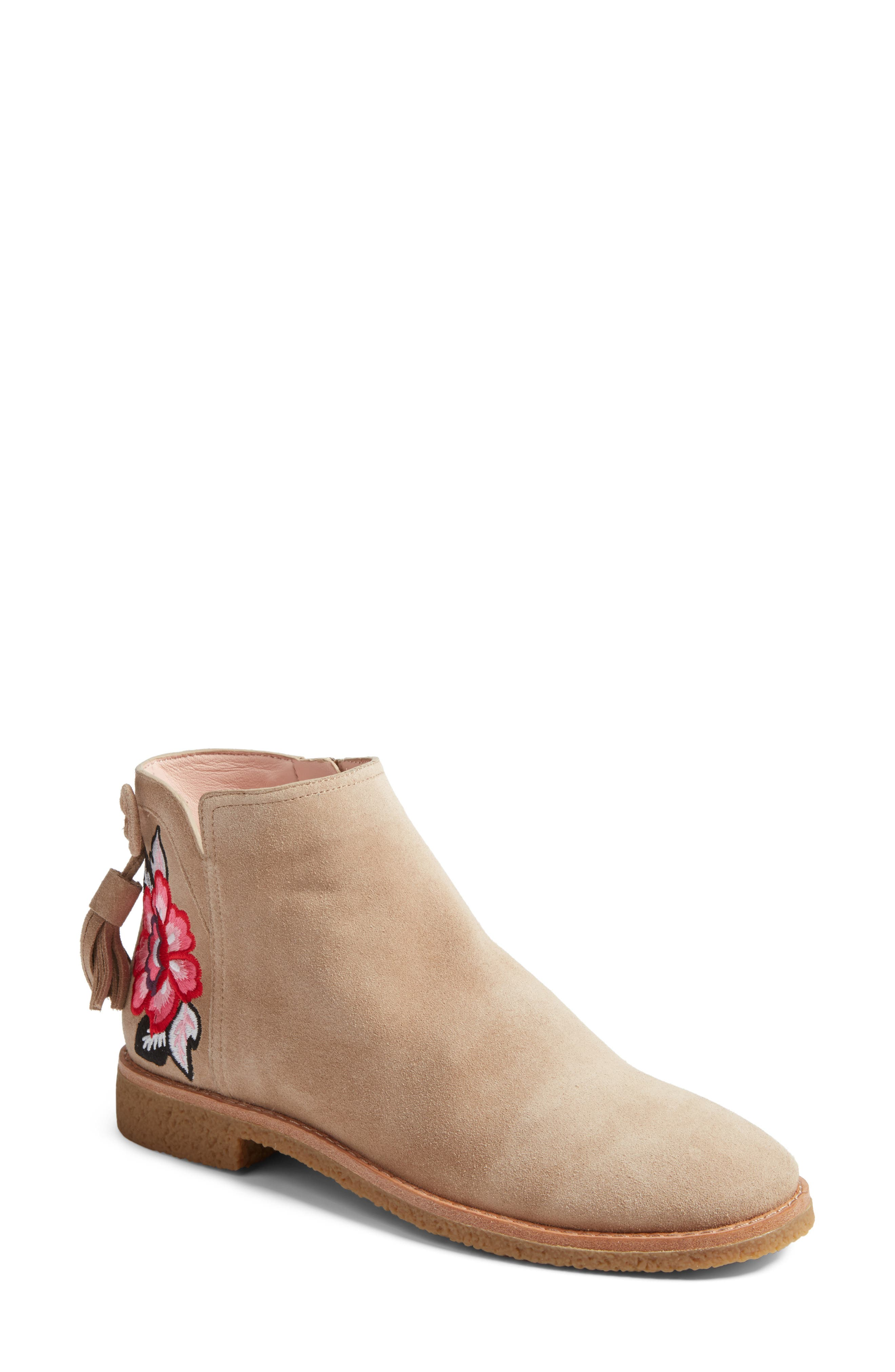 belleville bootie,                             Main thumbnail 1, color,                             Desert Cow Suede