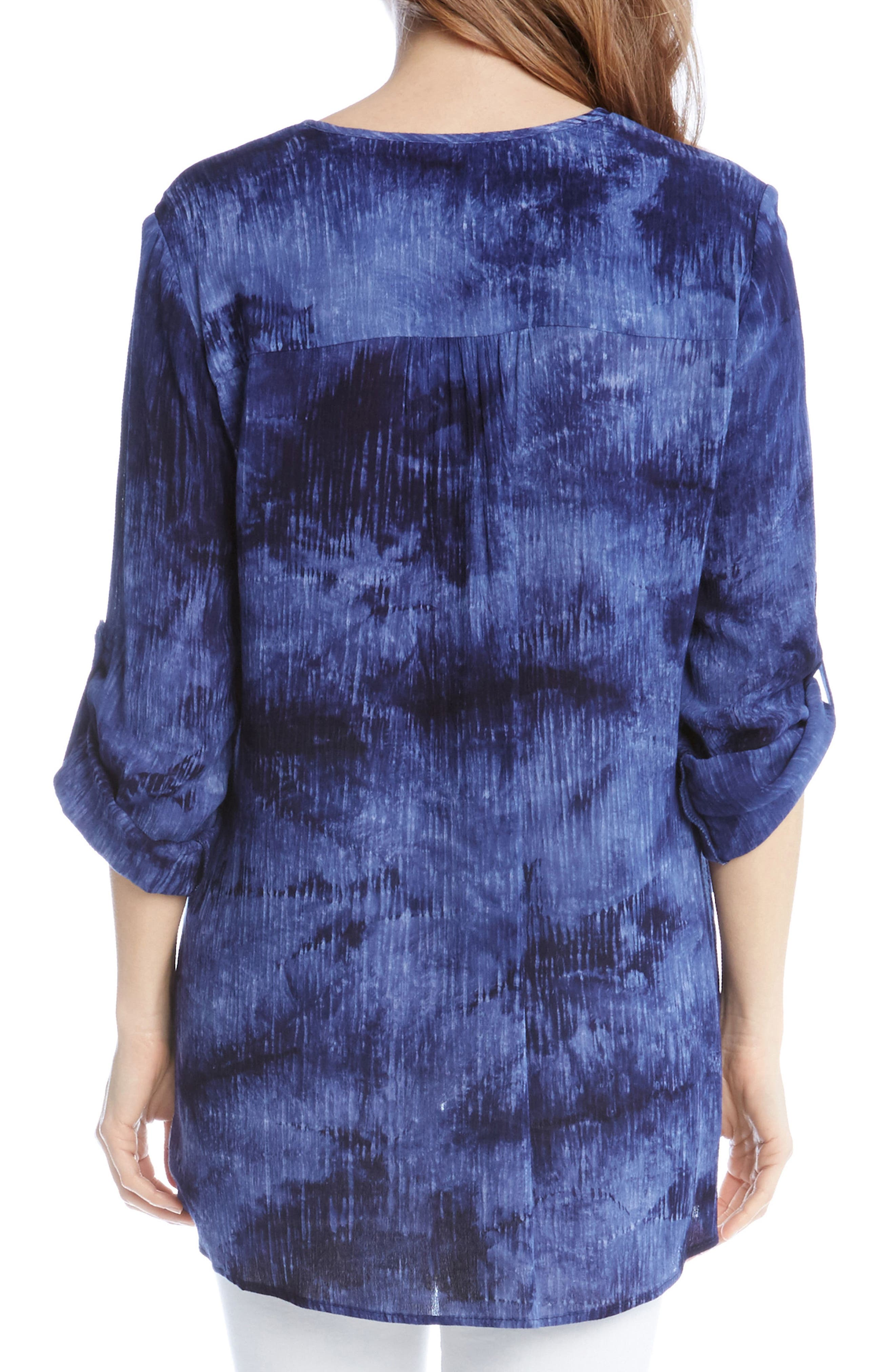 Alternate Image 2  - Karen Kane Asymmetrical Wrap Hem Top