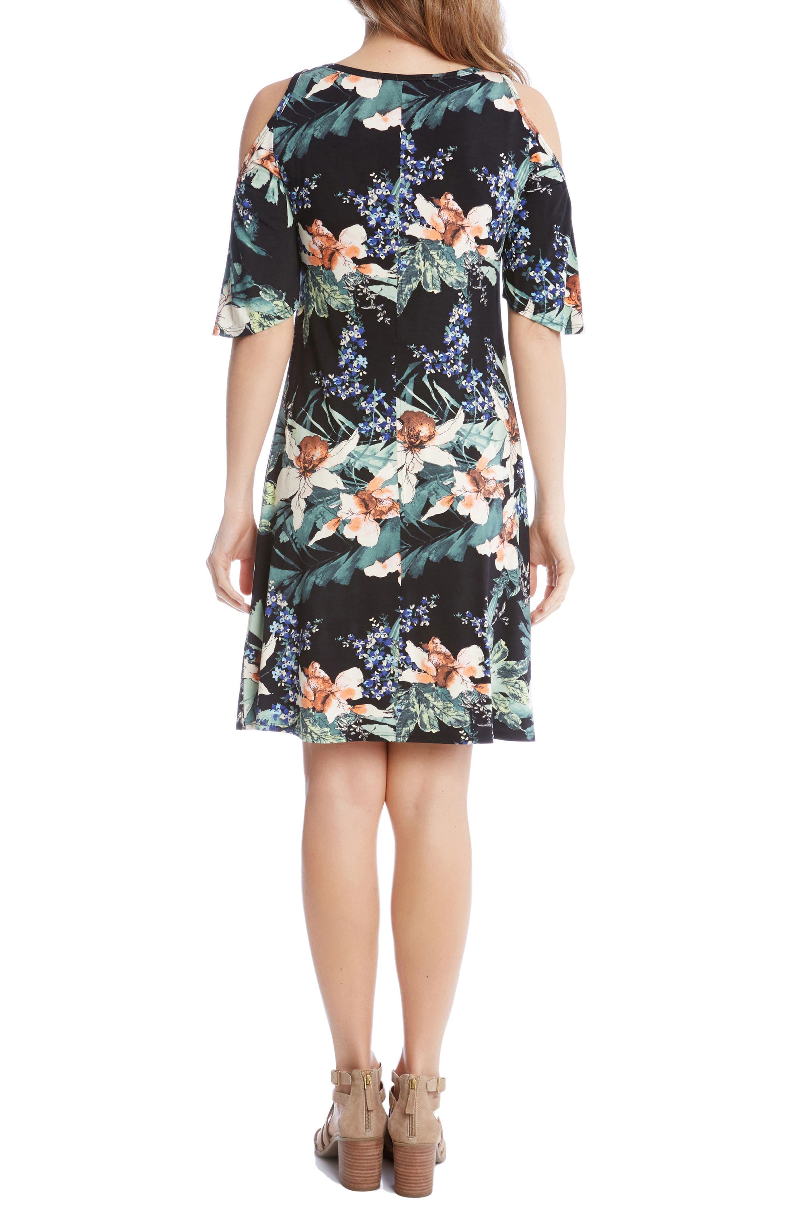 Alternate Image 2  - Karen Kane Orhid Garden Cold Shoulder Dresss