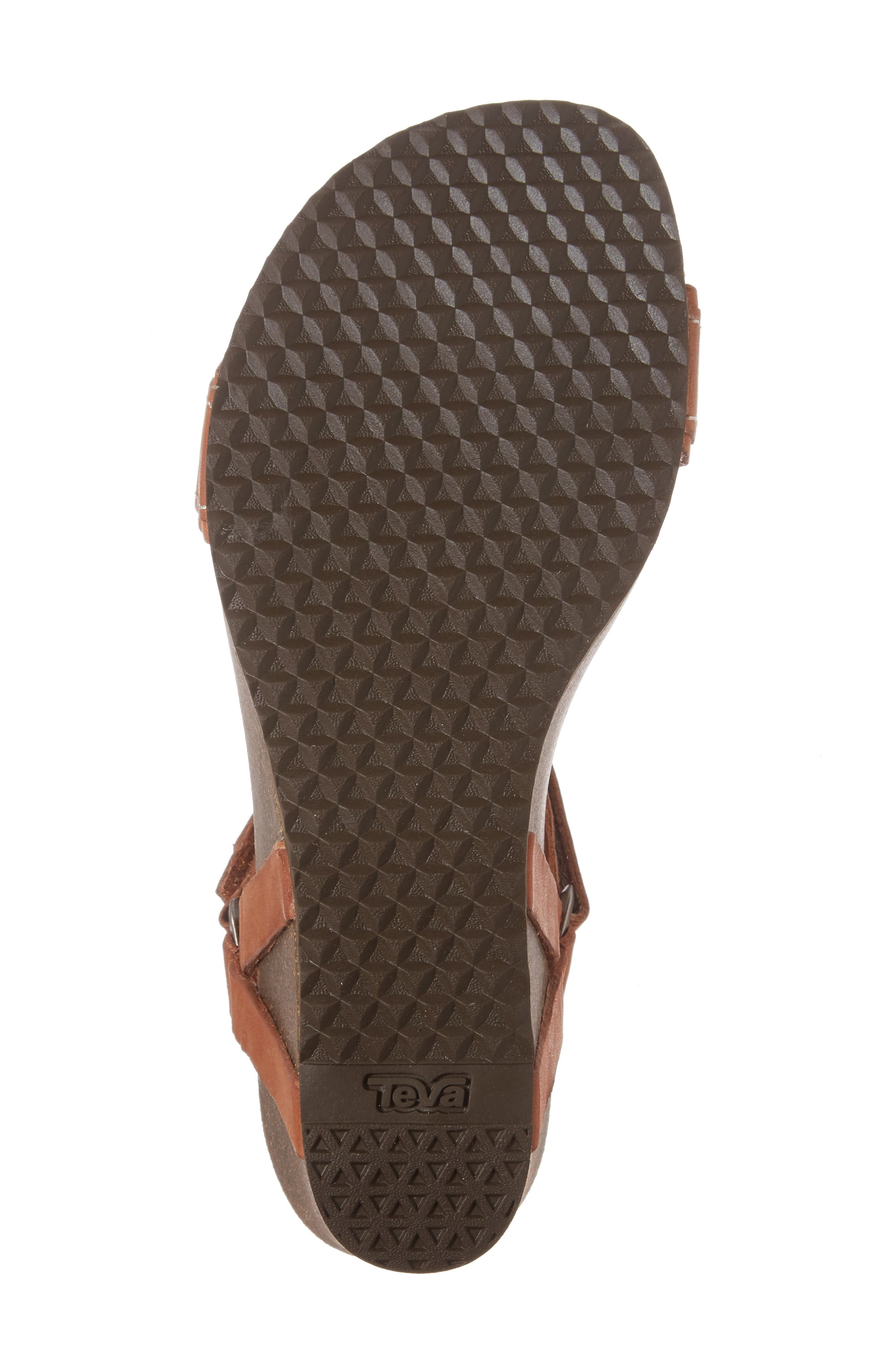 Ysidro Universal Sandal,                             Alternate thumbnail 6, color,                             Cognac Leather