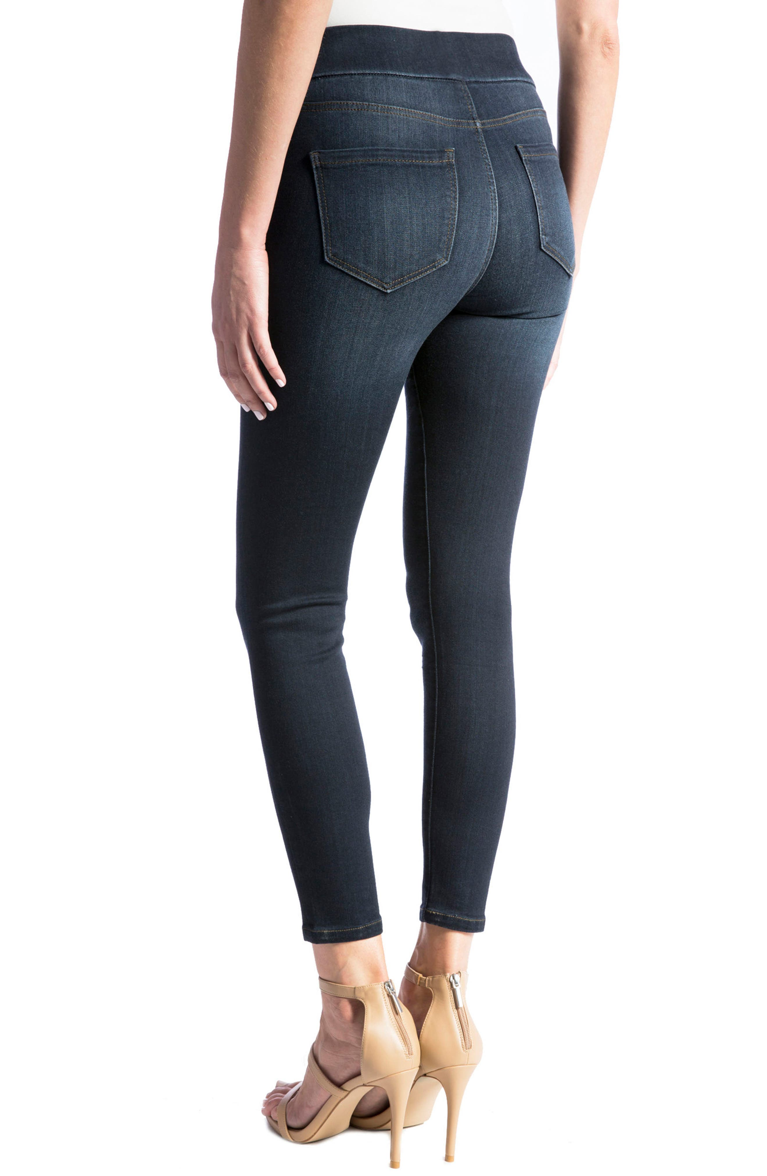Alternate Image 4  - Liverpool Jeans Company High Rise Stretch Denim Ankle Leggings (Dynasty Dark) (Regular & Petite)