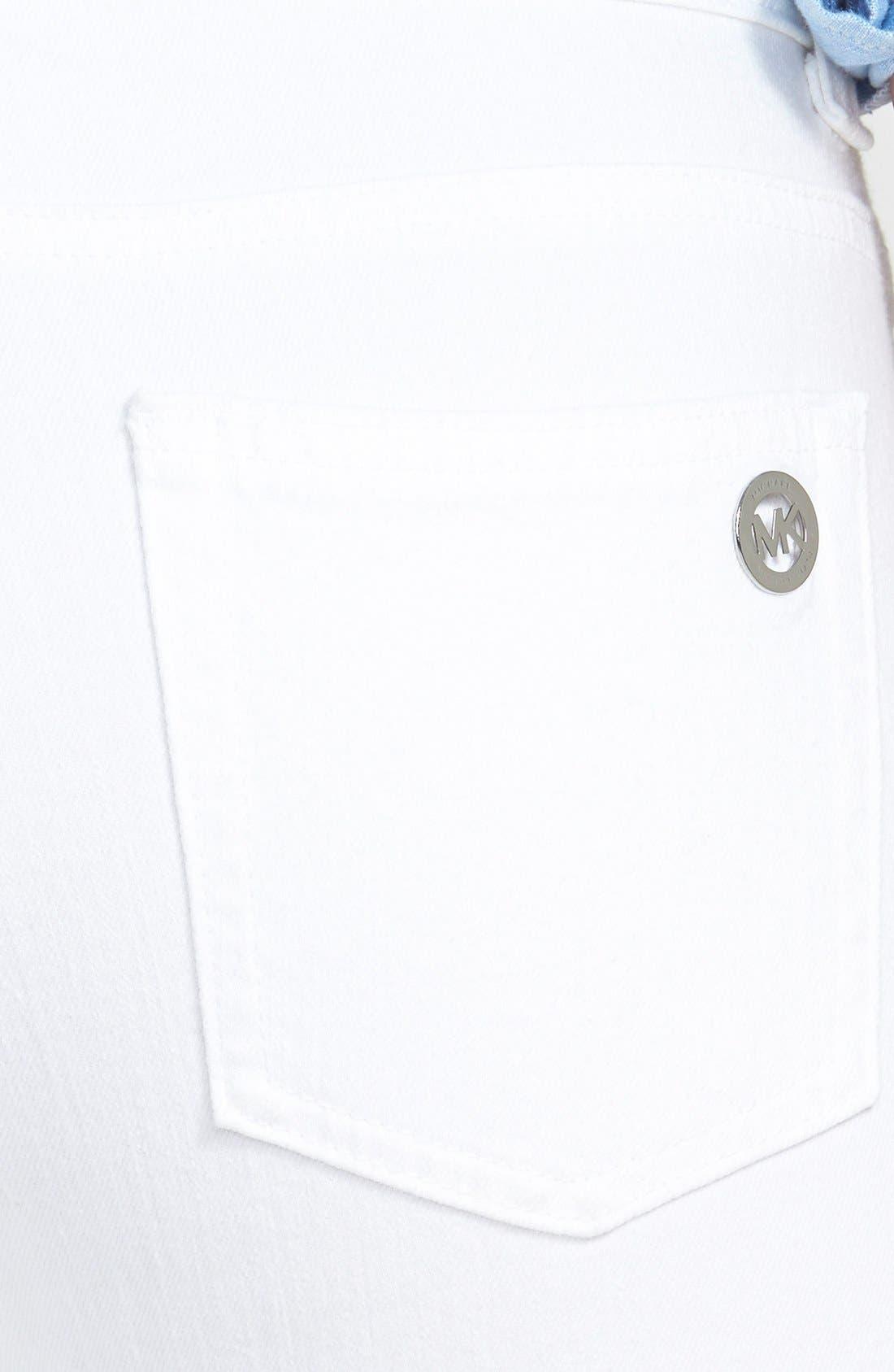 Alternate Image 3  - MICHAEL Michael Kors White Skinny Jeans