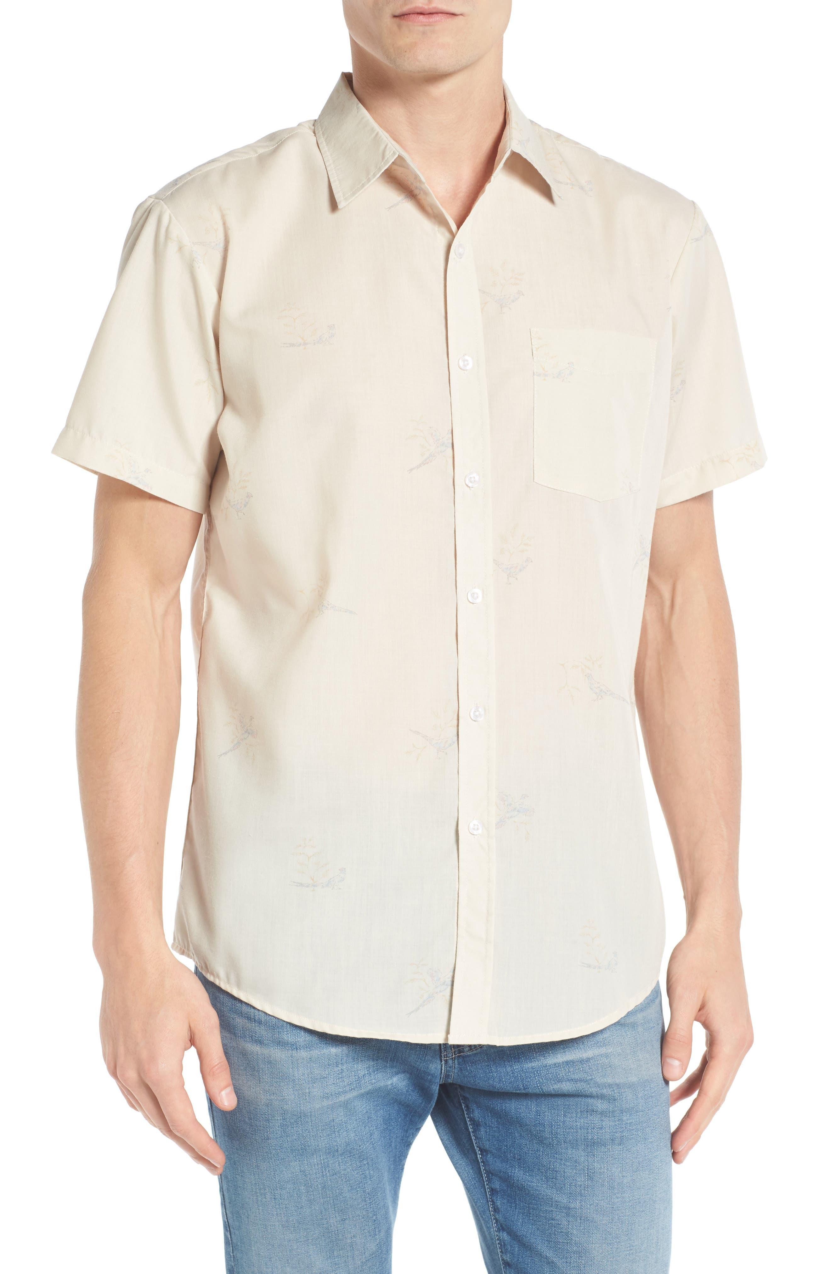 Brixton Stuart Quail Print Woven Shirt