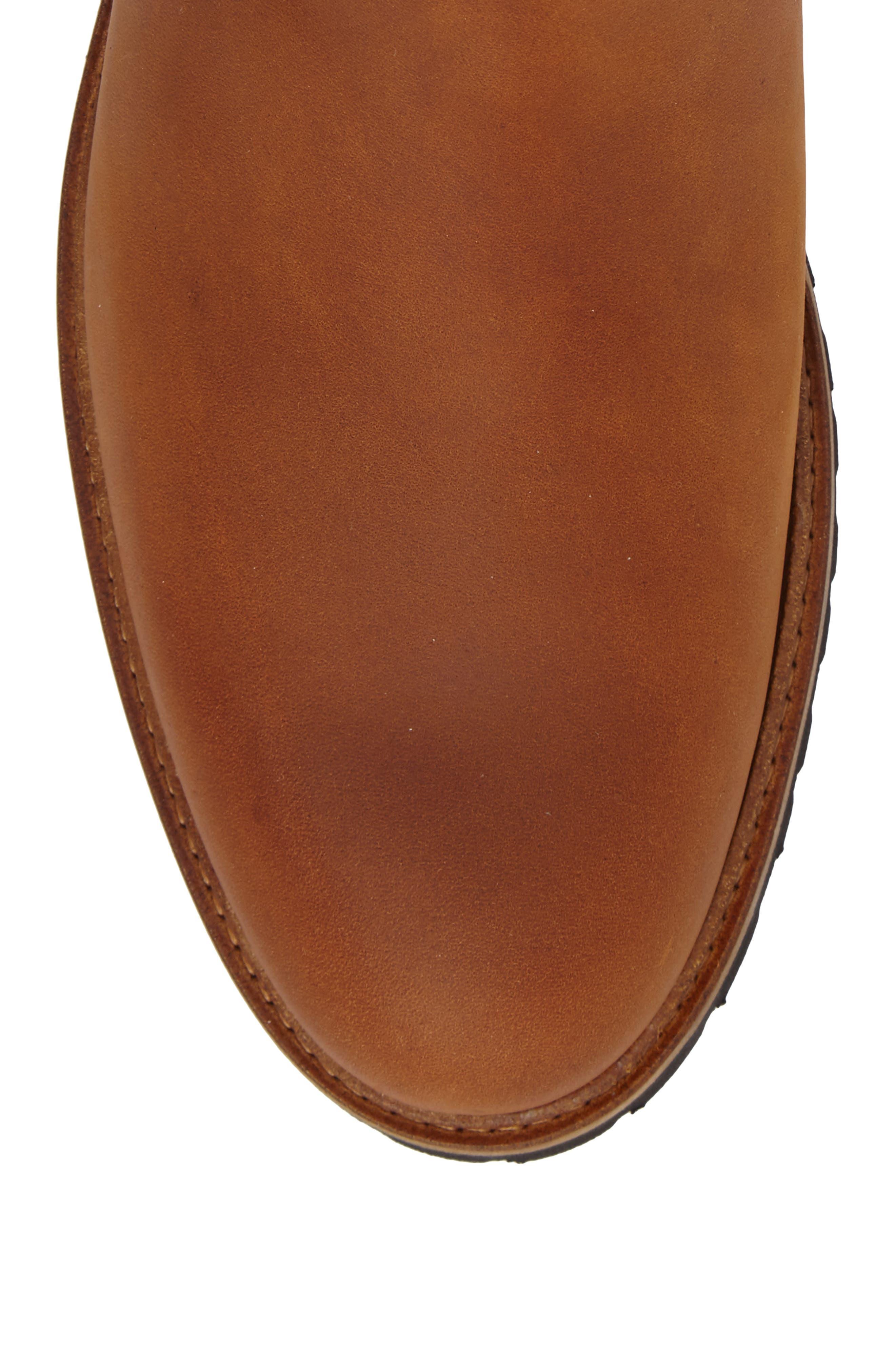 Crosstown Cowboy Chelsea Boot,                             Alternate thumbnail 4, color,                             Tan Waxhide/ Black