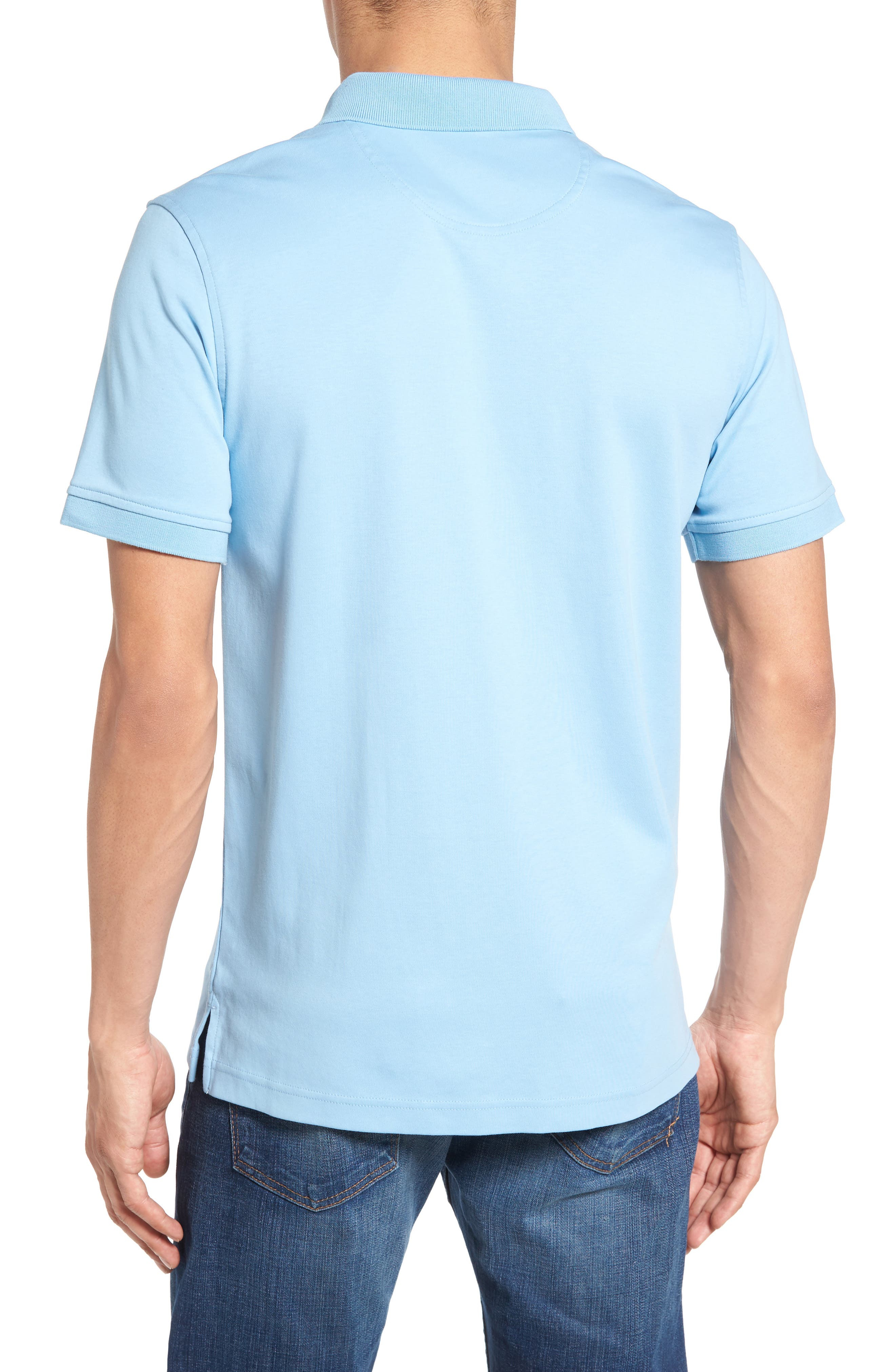 Alternate Image 2  - Nordstrom Men's Shop Slim Fit Interlock Knit Polo