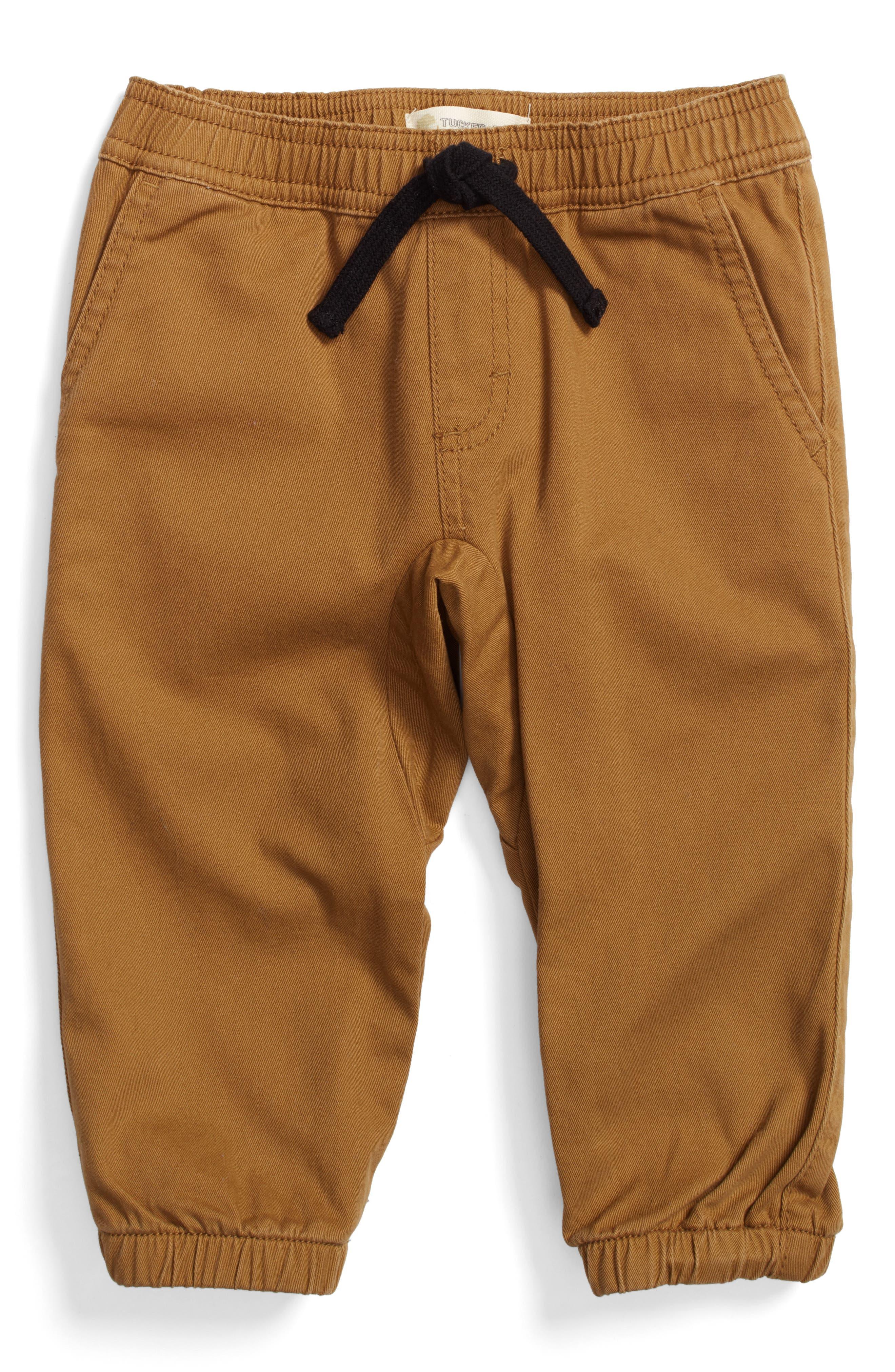 Twill Jogger Pants,                         Main,                         color, Tan Cumin