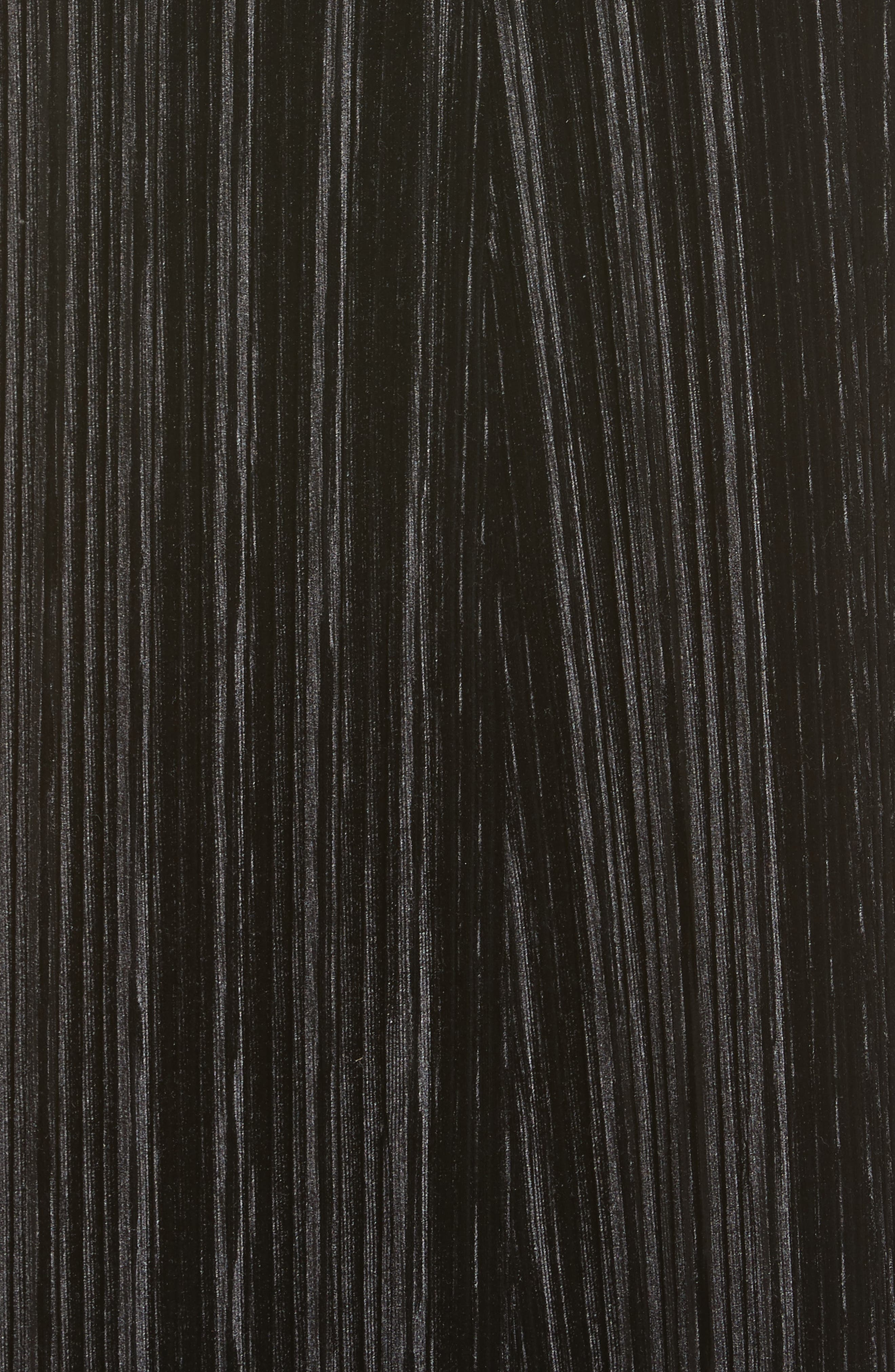 Lace Appliqué Crinkled Velvet Dress,                             Alternate thumbnail 5, color,                             Black
