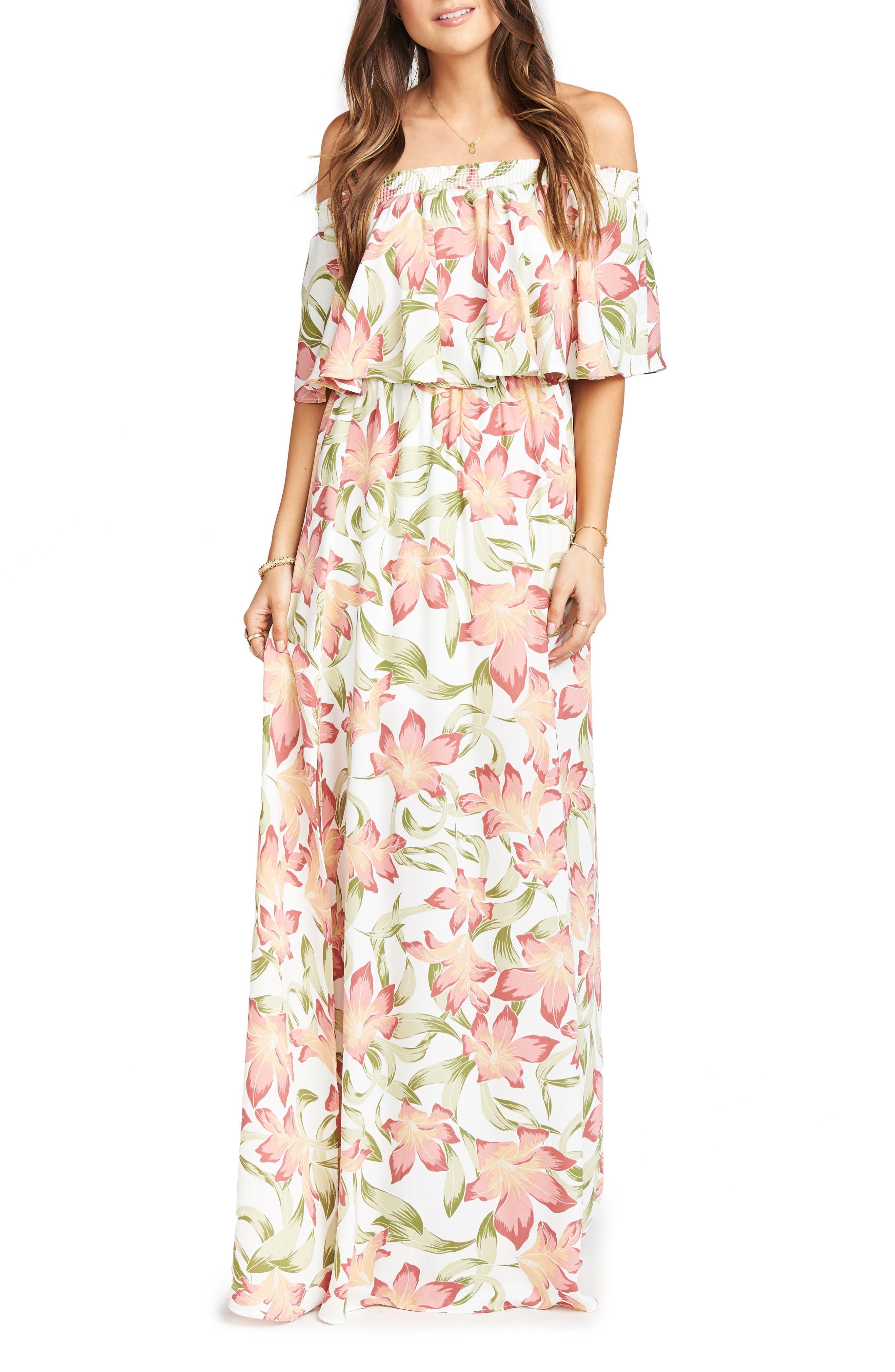 Hacienda Maxi Dress,                             Main thumbnail 1, color,                             Lily Lady Crepe
