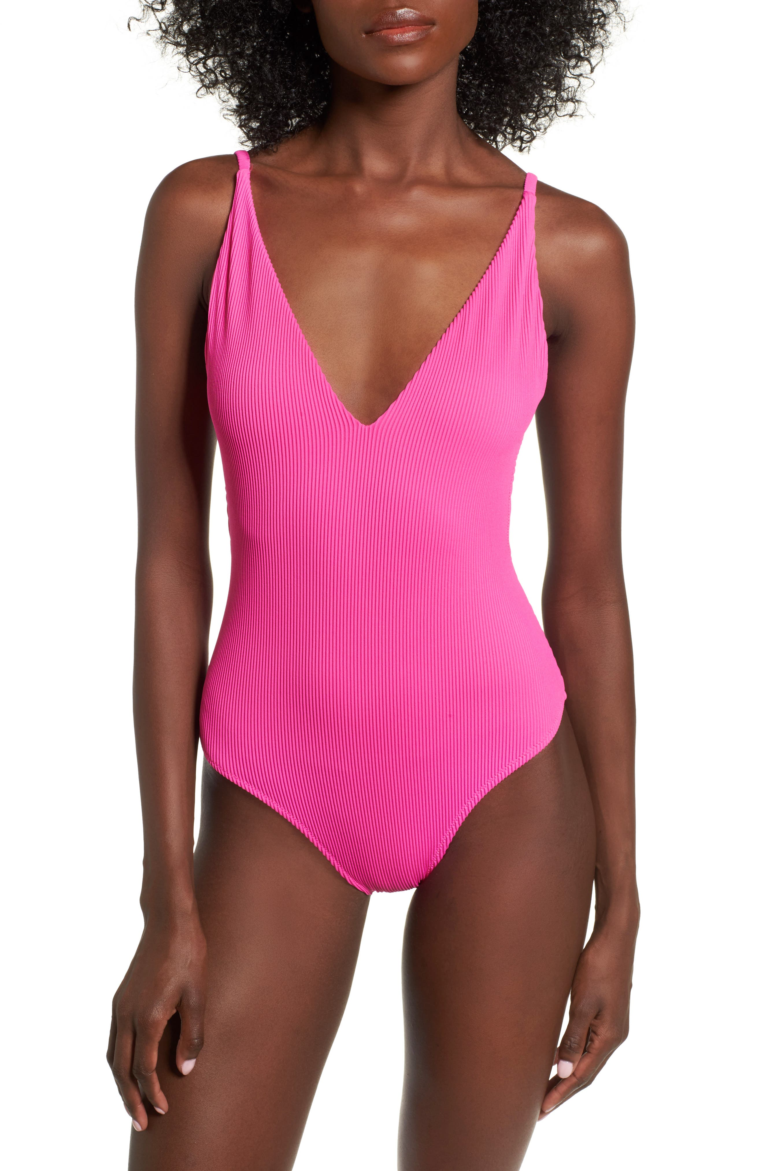 Pamela One-Piece Swimsuit,                         Main,                         color, Pink