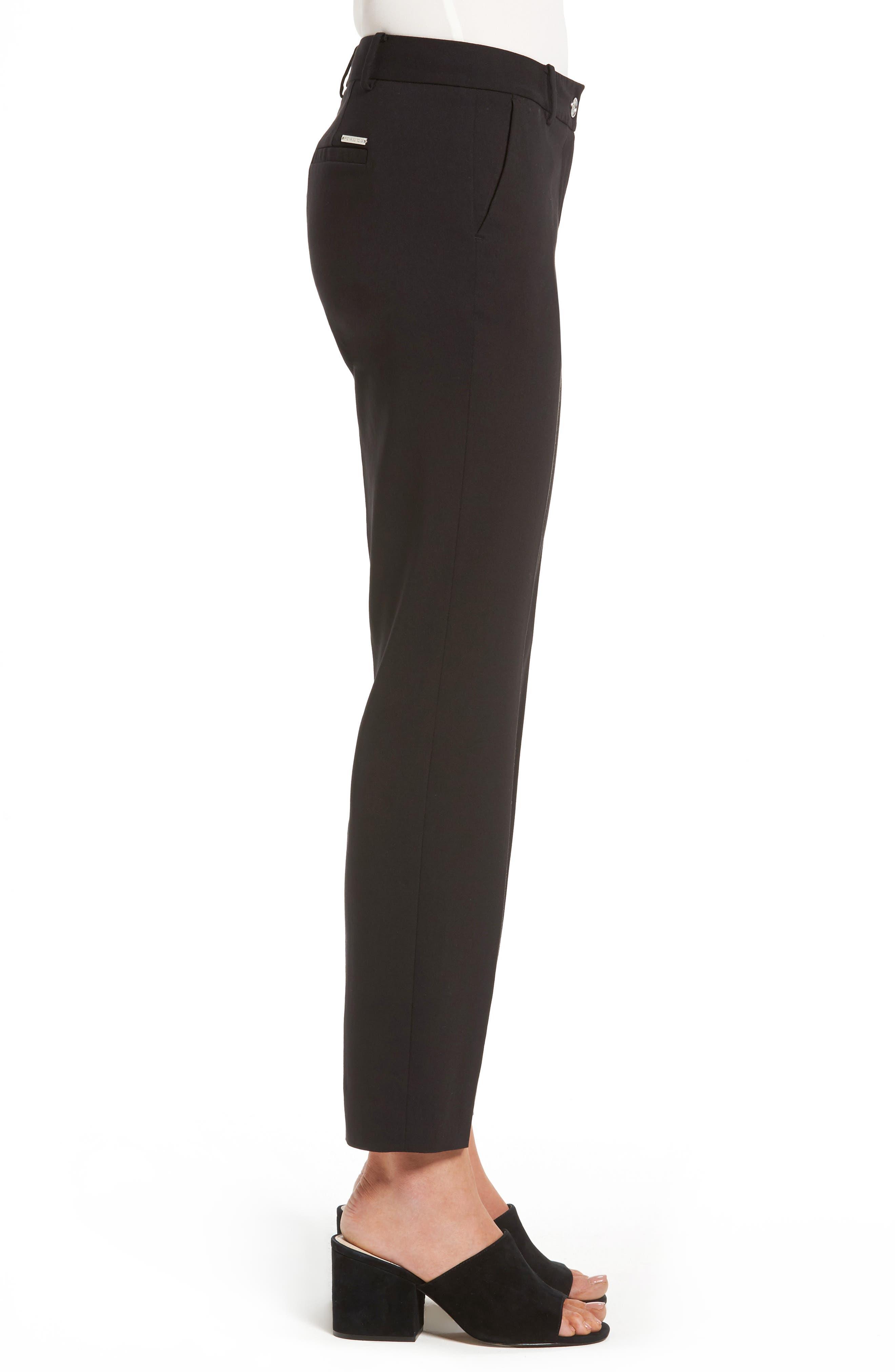 Miranda Slim Ankle Pants,                             Alternate thumbnail 3, color,                             Black