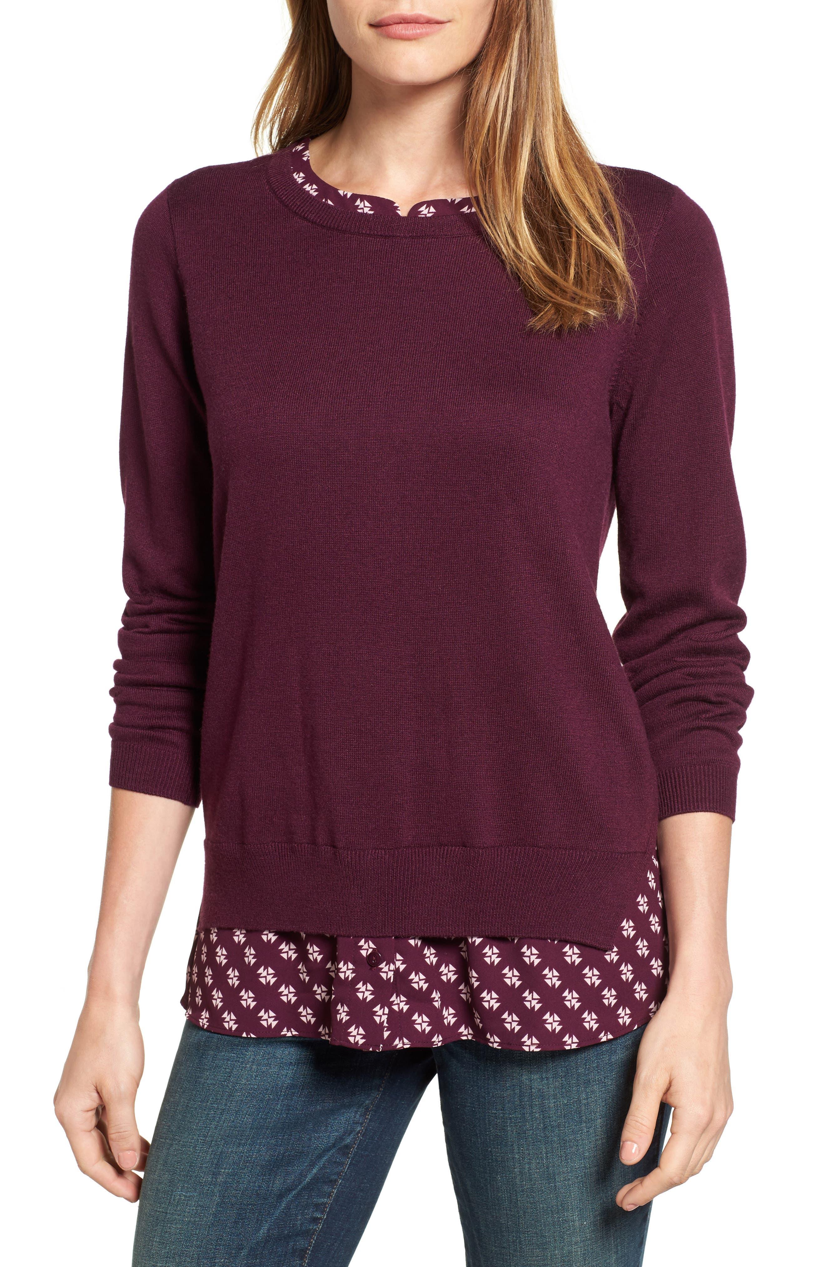 NYDJ Layered Look Sweater (Regular & Petite)