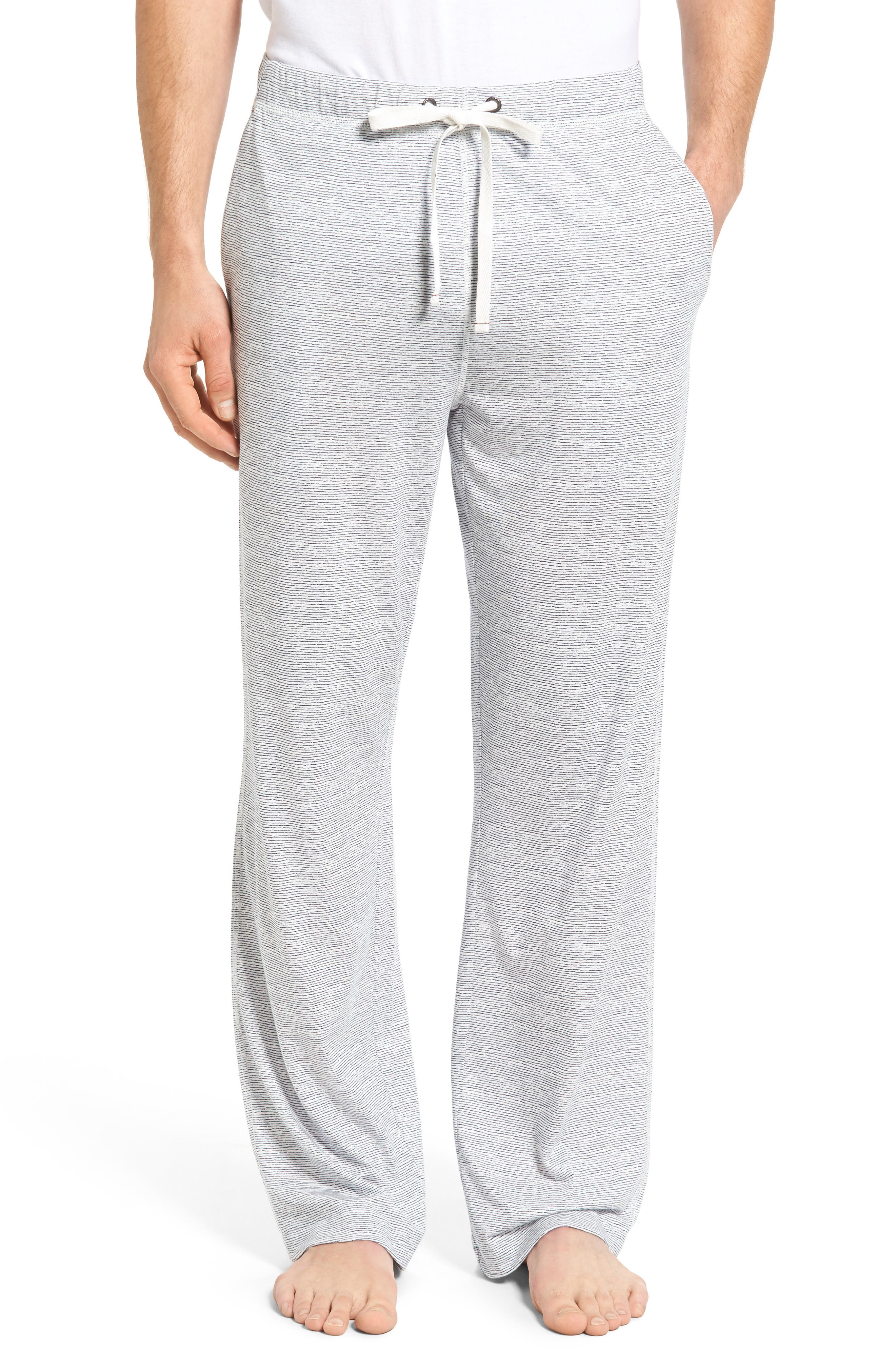 Pima Cotton & Modal Lounge Pants,                             Main thumbnail 1, color,                             Blue