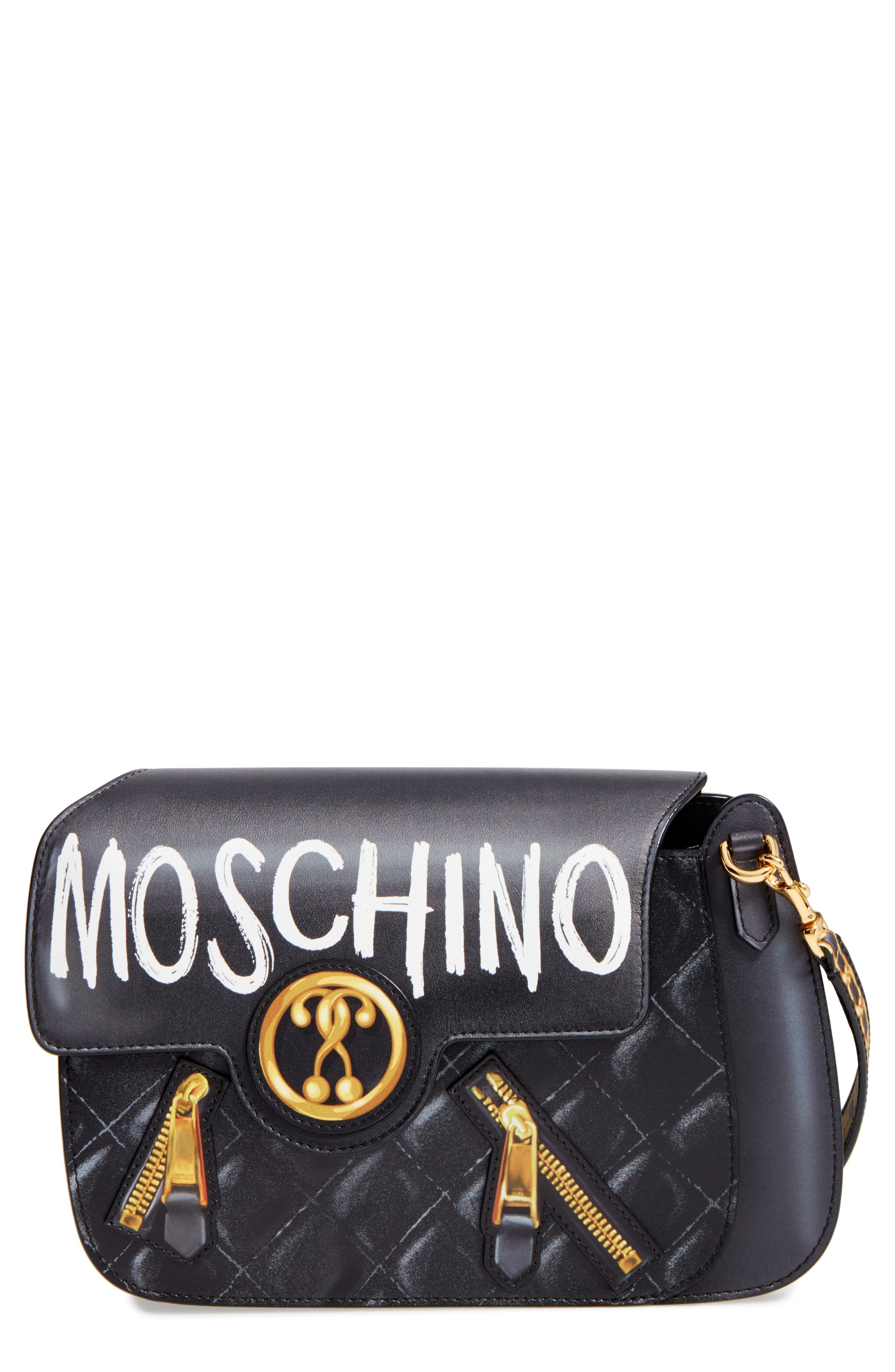 Main Image - Moschino 2-D Graffiti Logo Shoulder Bag