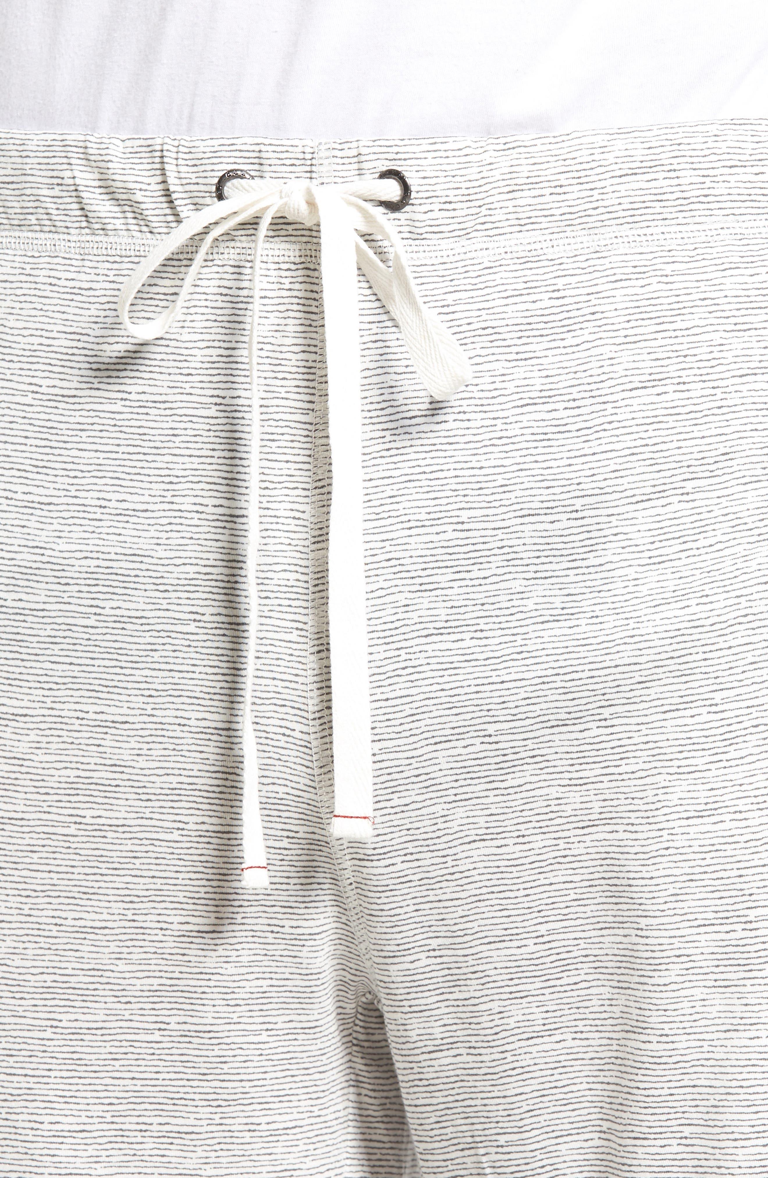 Alternate Image 4  - Daniel Buchler Feeder Stripe Pima Cotton & Modal Lounge Shorts