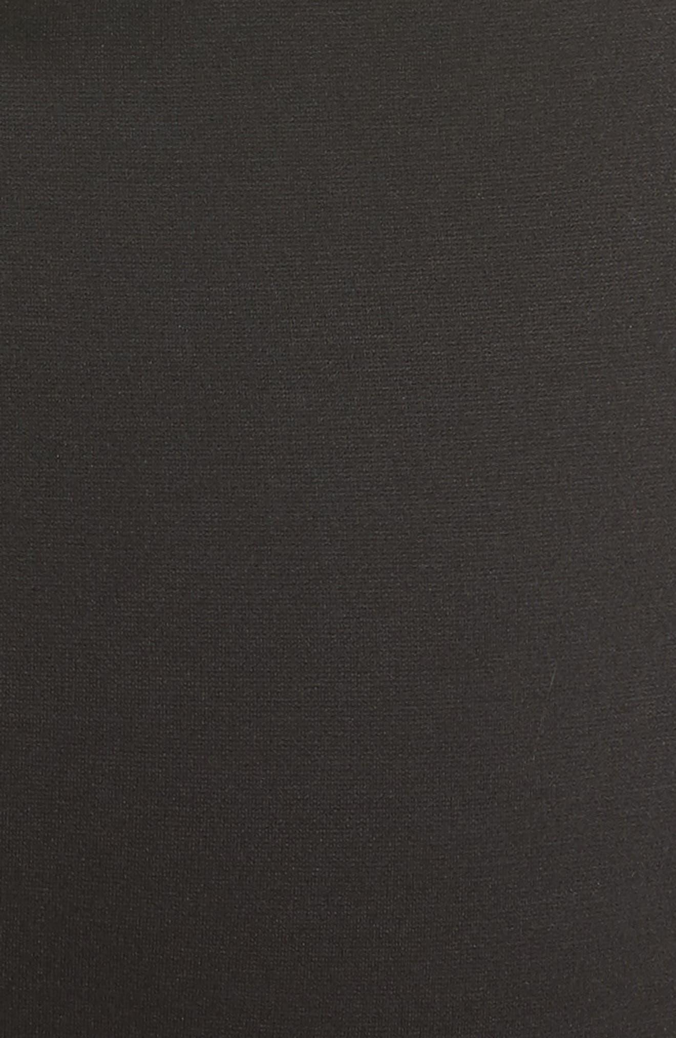 Tulle Off the Shoulder Midi Dress,                             Alternate thumbnail 3, color,                             Nero